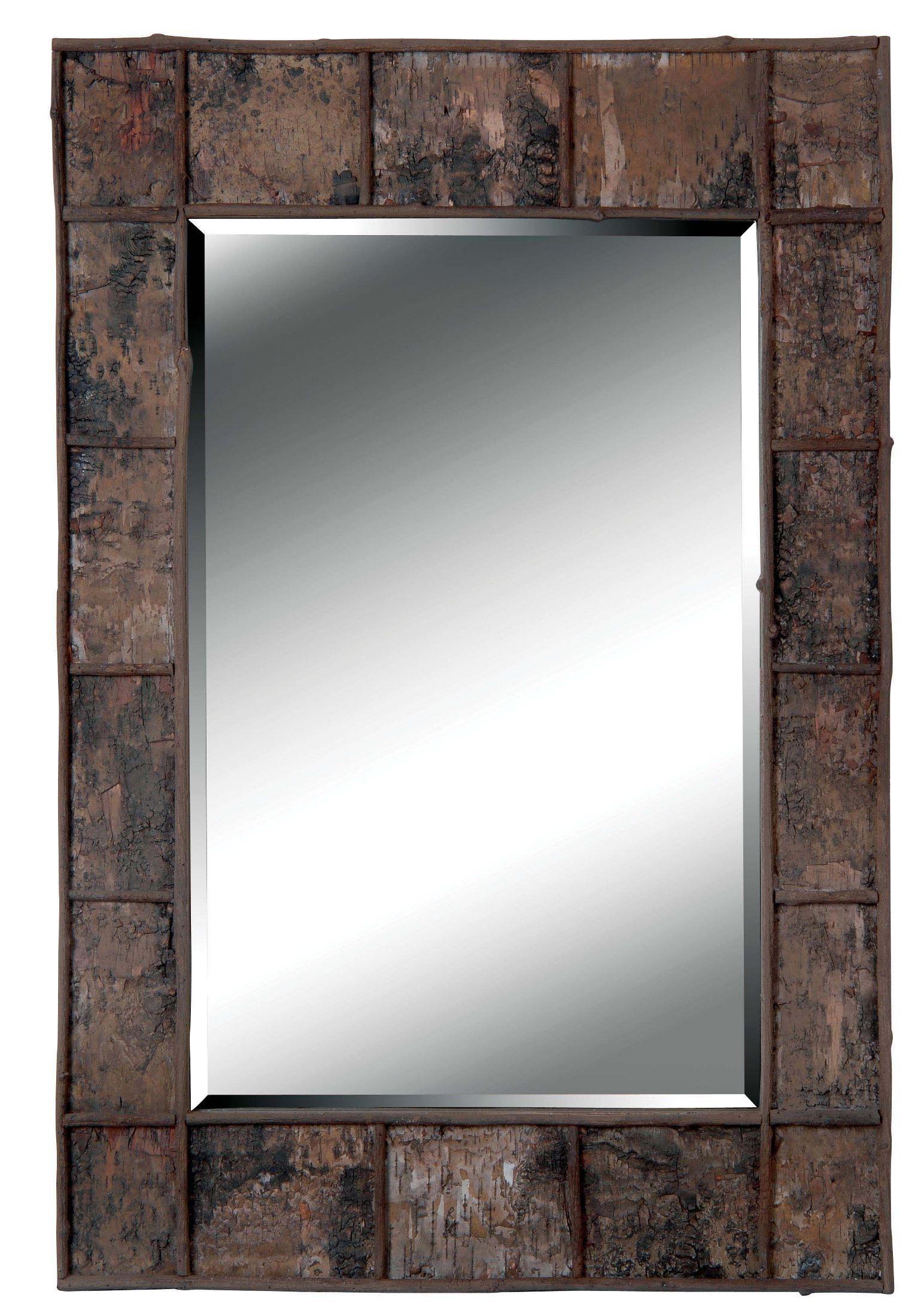 Birch Bark Wall Mirror From Kenroy 61002 Coleman Furniture