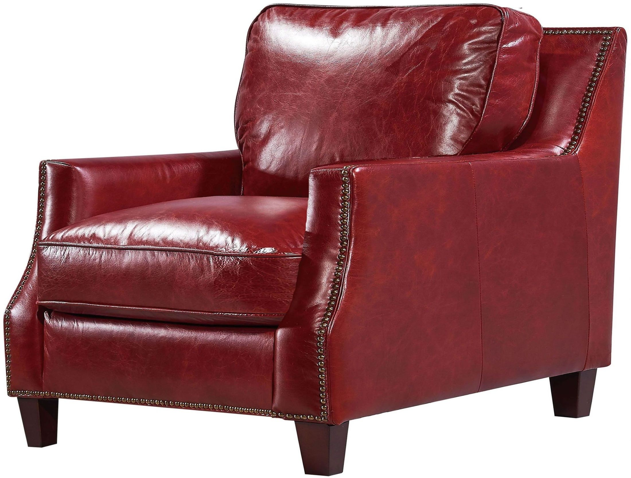 Geor owne Oakridge Red Leather Living Room Set from Luxe Leather