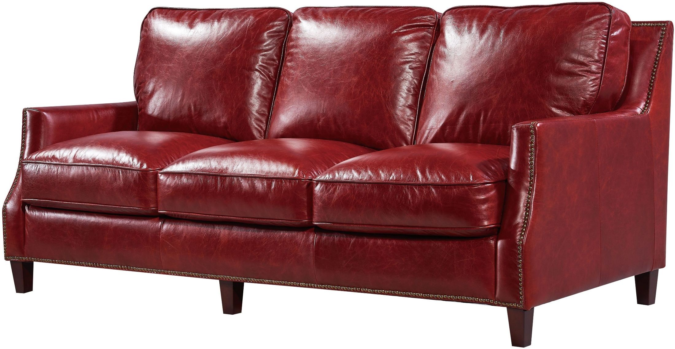 Georgetowne Oakridge Red Leather Living Room Set from Luxe Leather ...