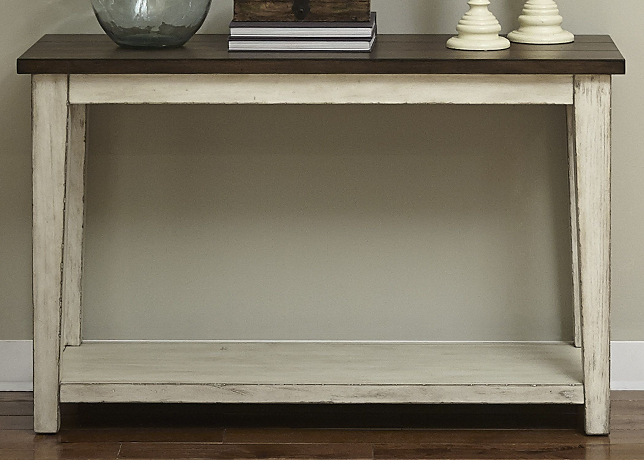 Lancaster Antique White And Brown Sofa Table From Liberty