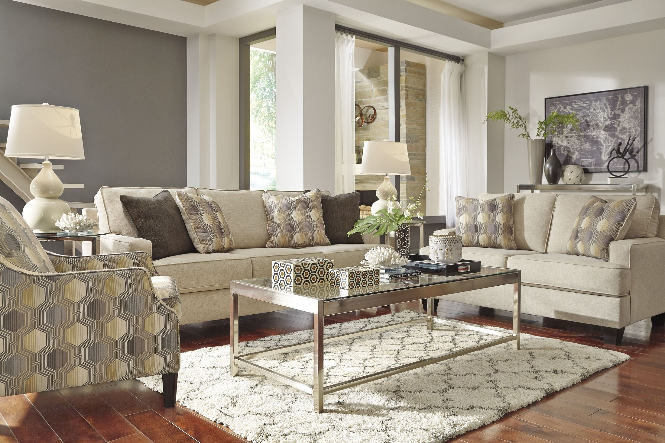 brielyn linen living room set from ashley 6140238 coleman furniture. Black Bedroom Furniture Sets. Home Design Ideas