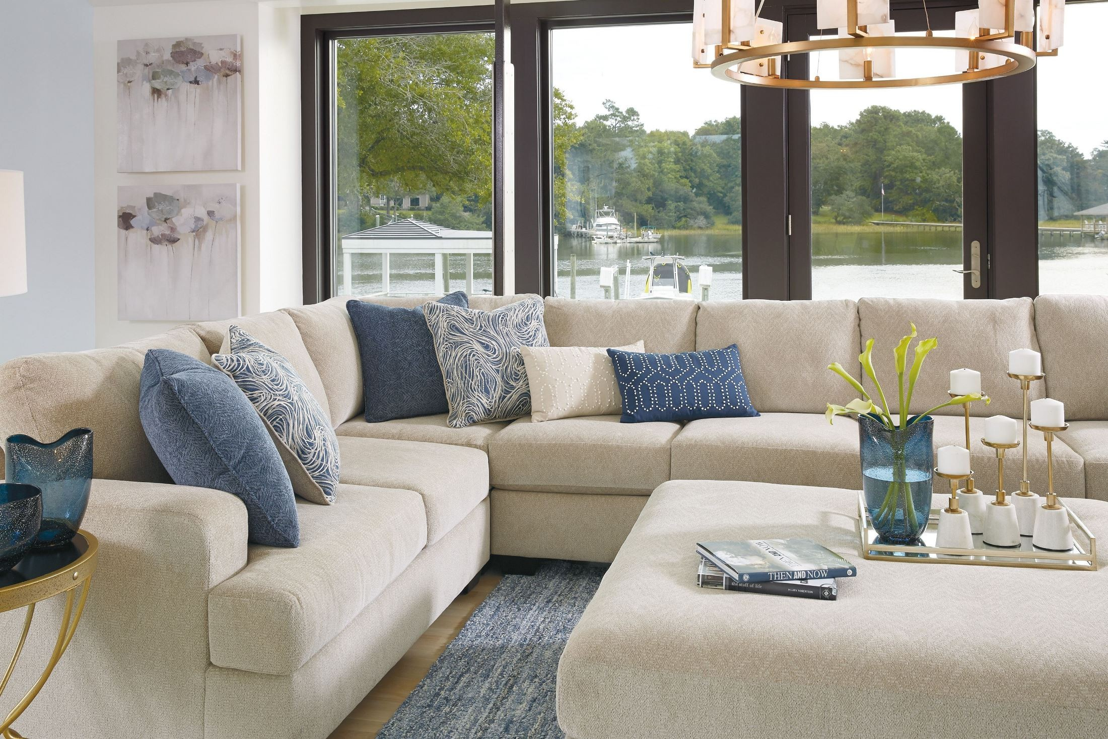 Enola Sepia Oversized Accent Ottoman From Ashley Coleman Furniture