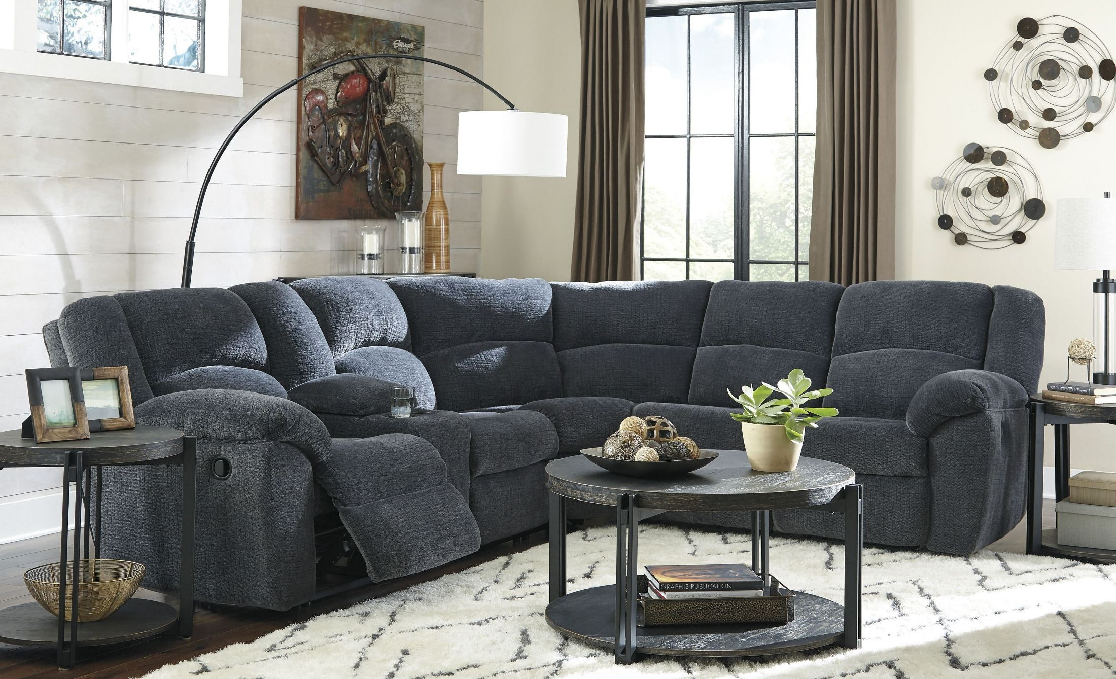 Timpson Indigo Reclining Sectional from Ashley | Coleman Furniture