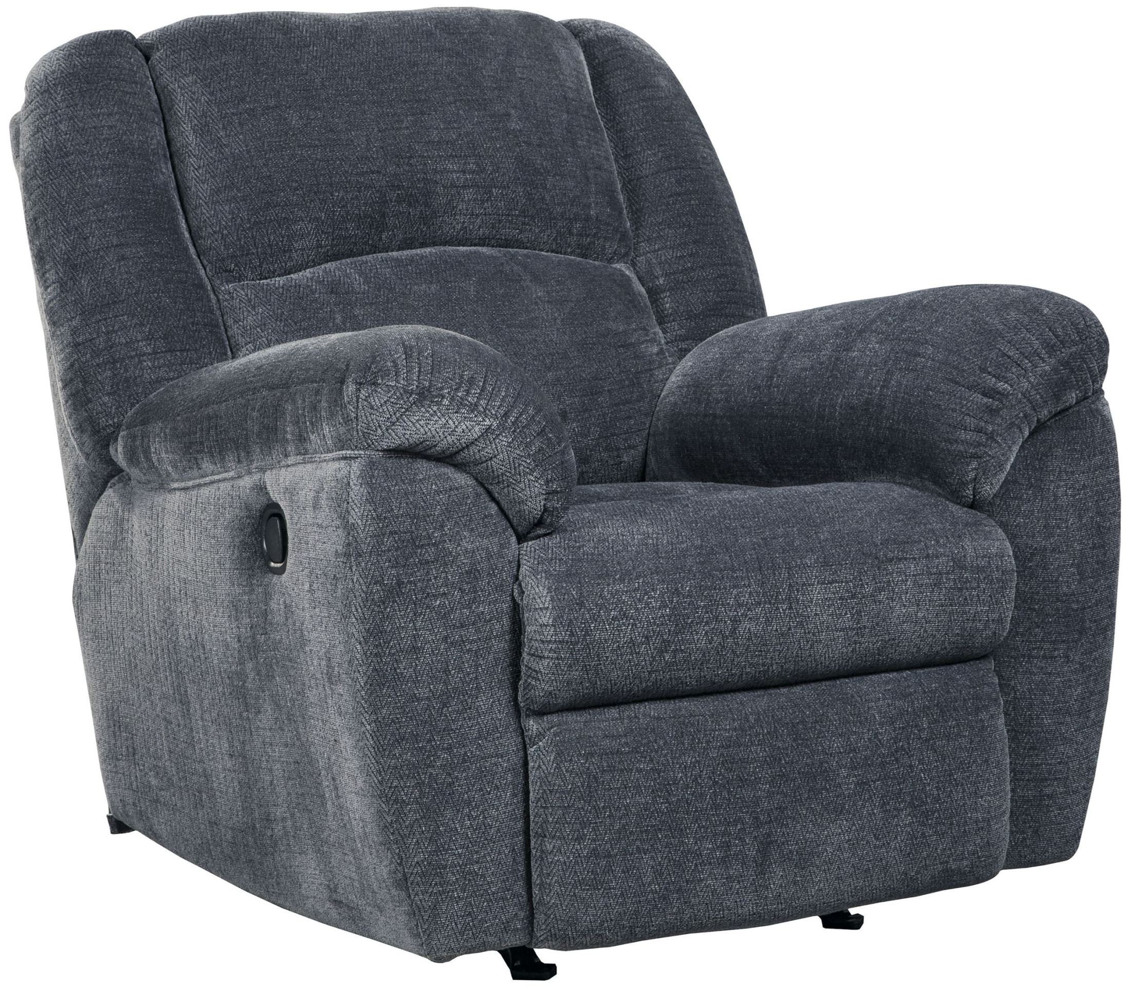 These 6 Pieces Of Colorful Furniture Are Absolute Must Haves: Timpson Indigo Rocker Recliner From Ashley