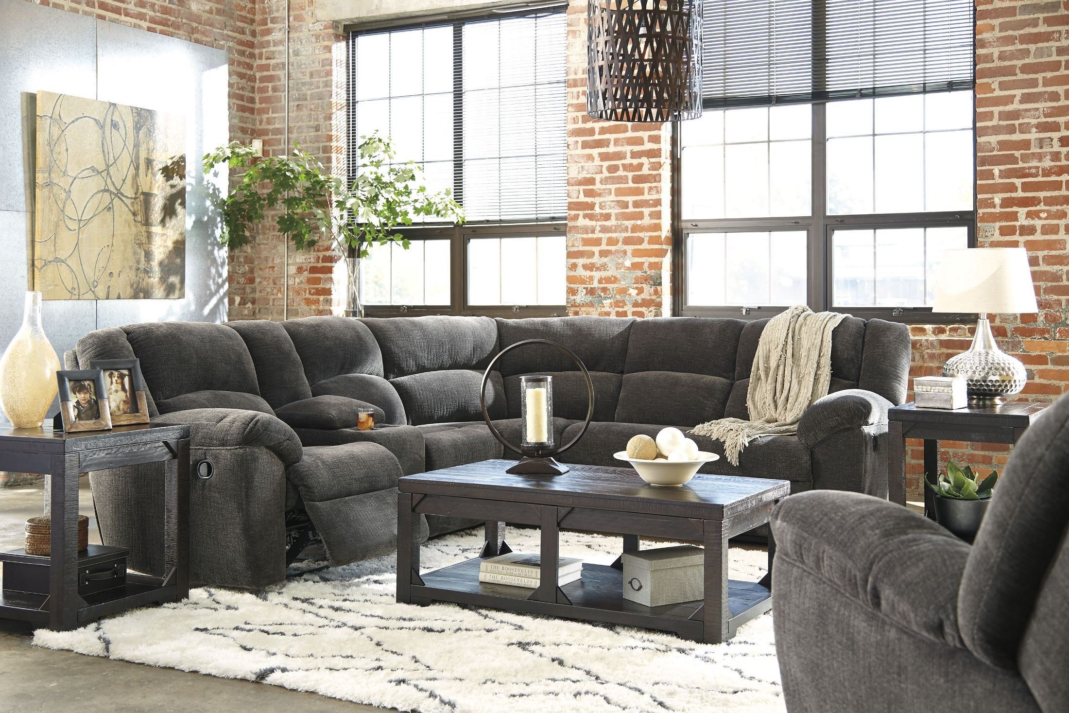 Timpson Slate Reclining Sectional From Ashley Coleman