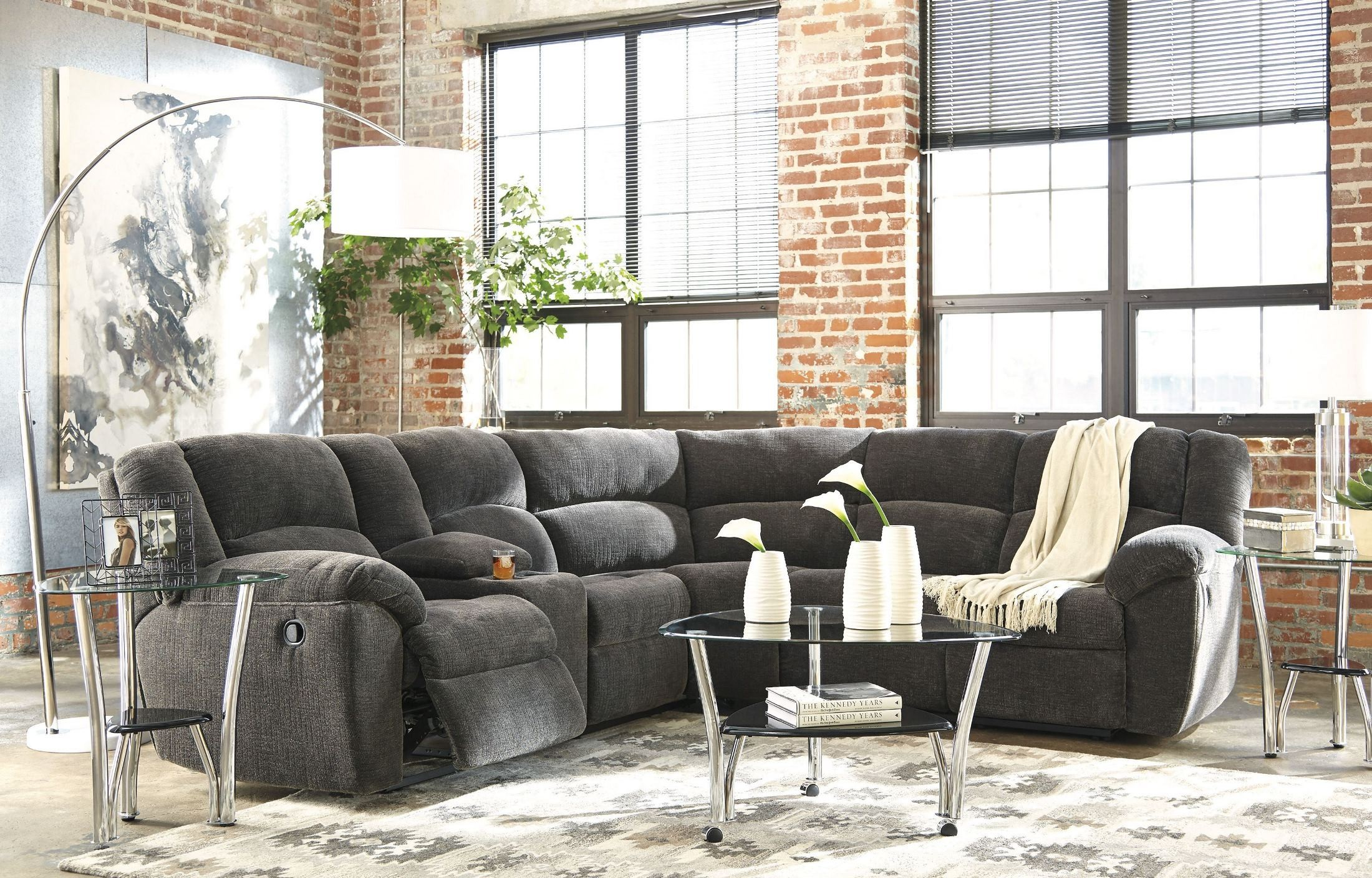 reclining sofa by furniture rolled sectional arms recliner products classic with klaussner