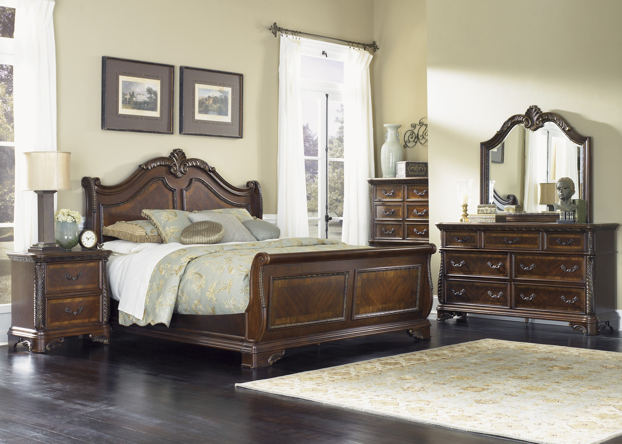 Sleigh Bedroom Set >> Highland Court Sleigh Bedroom Set from Liberty (620-BR-QSL)   Coleman Furniture