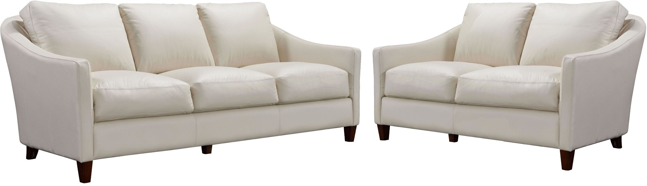 Georgetowne South Beach Beige Leather Living Room Set from Luxe ...