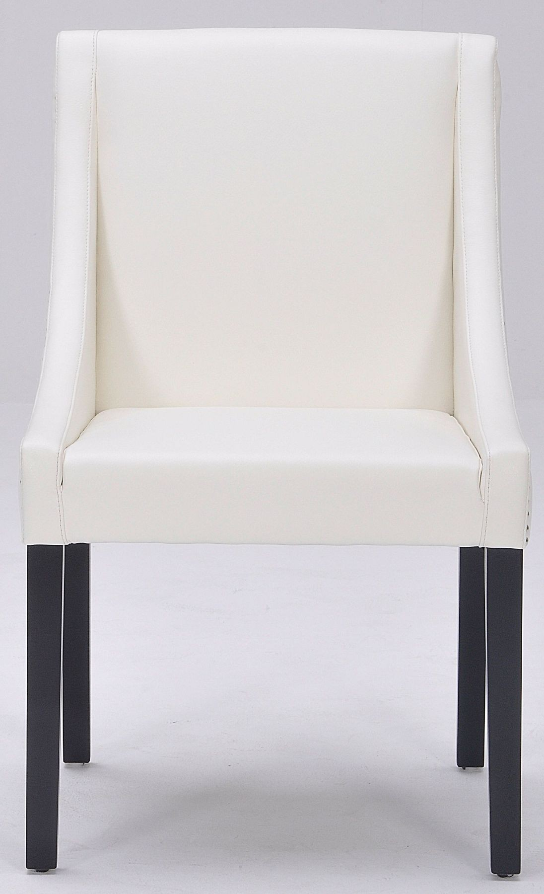 Lucille Ivory Leather Dining Chair From Sunpan 62283