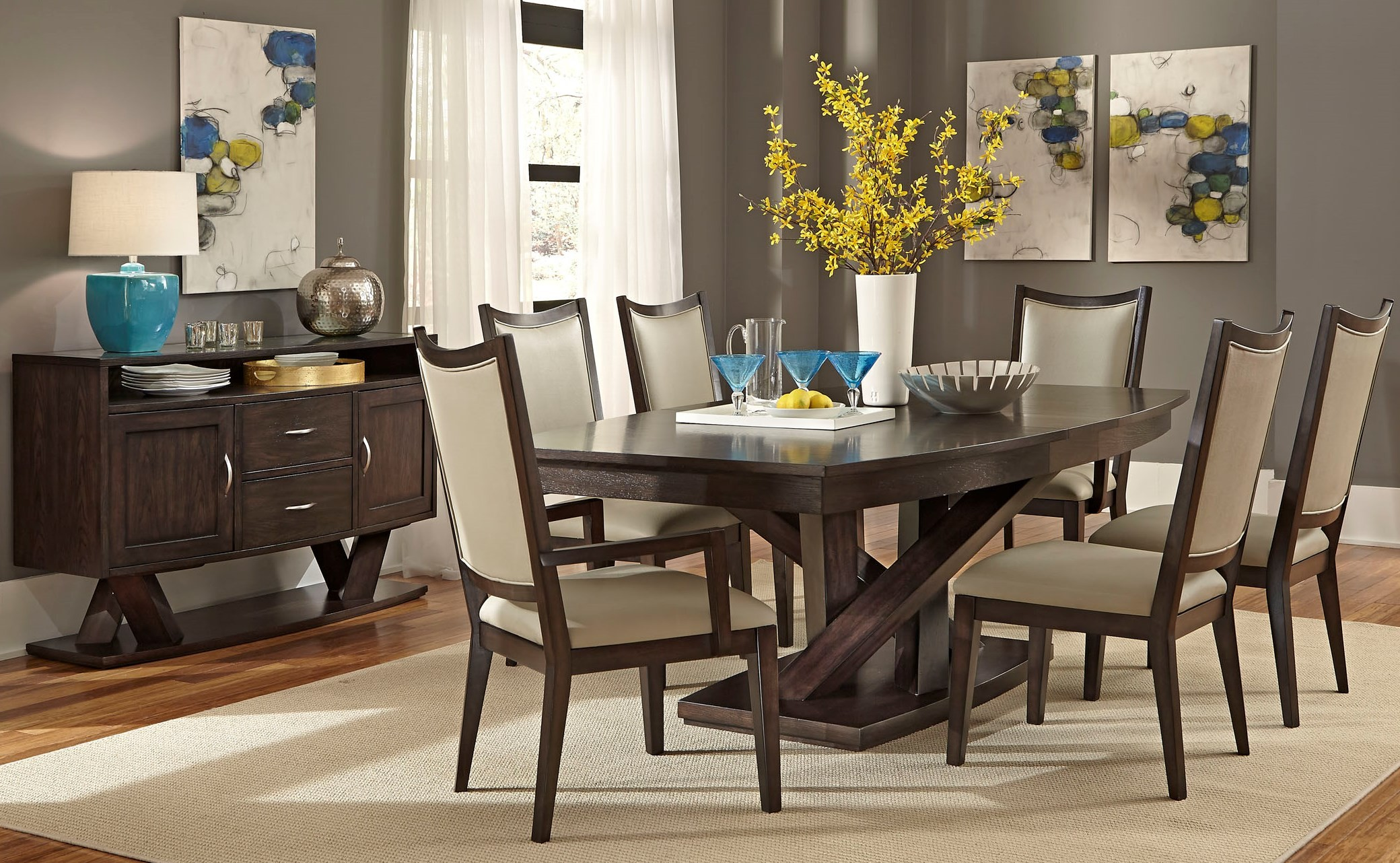 southpark pedestal dining room set from liberty 623 t4884