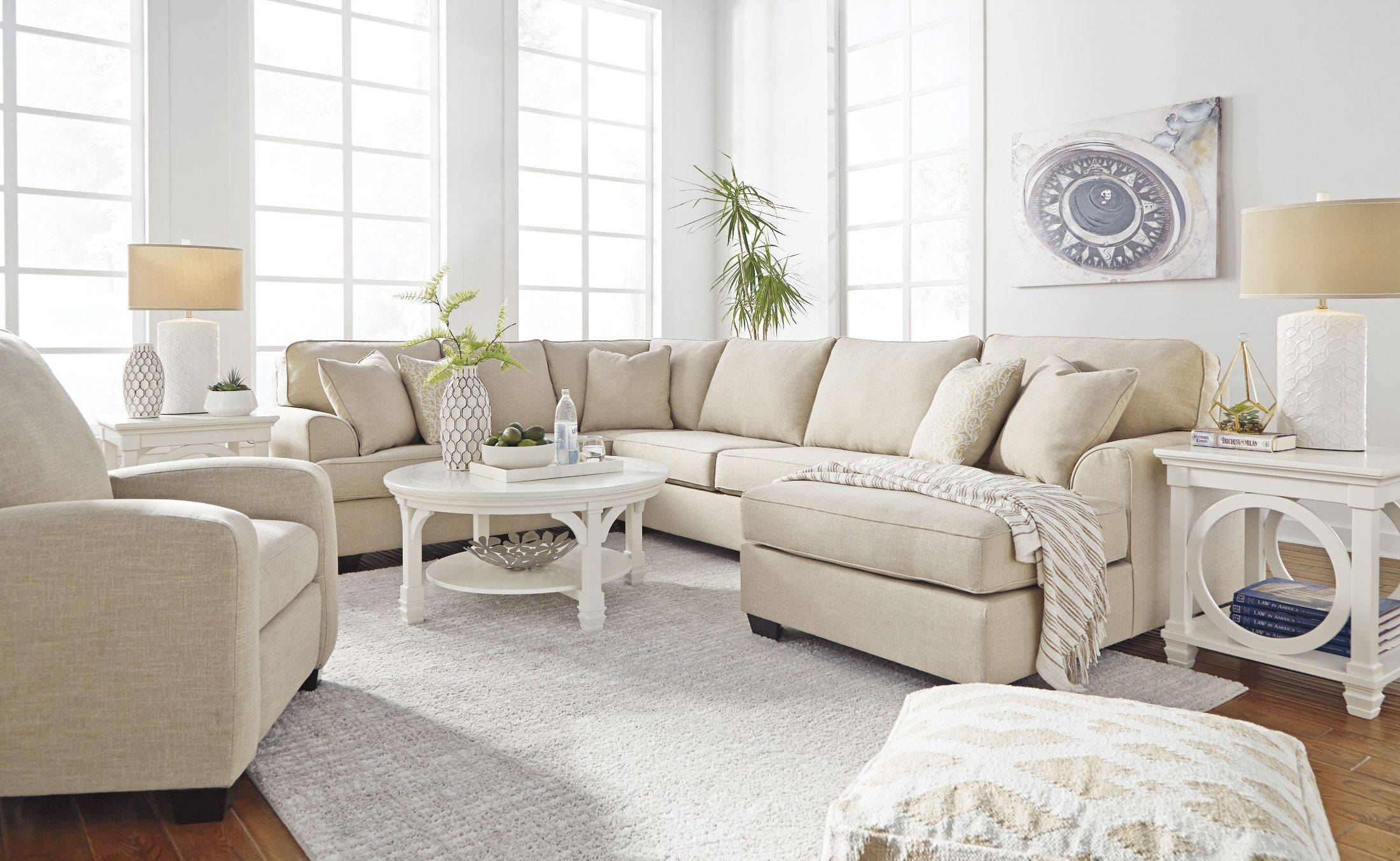 Brioni nuvella sand raf sectional from ashley coleman for Furniture group