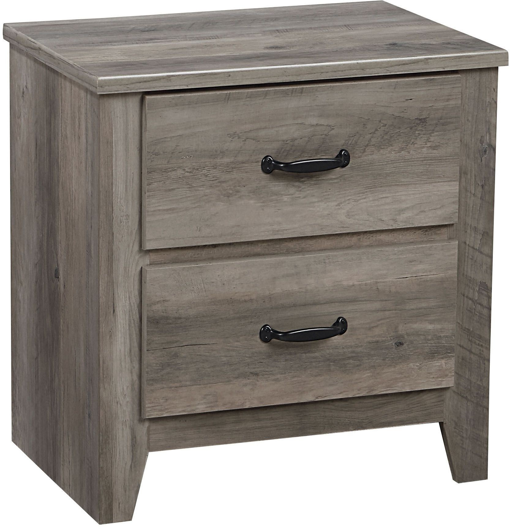 Barnett distressed pine 2 drawer nightstand