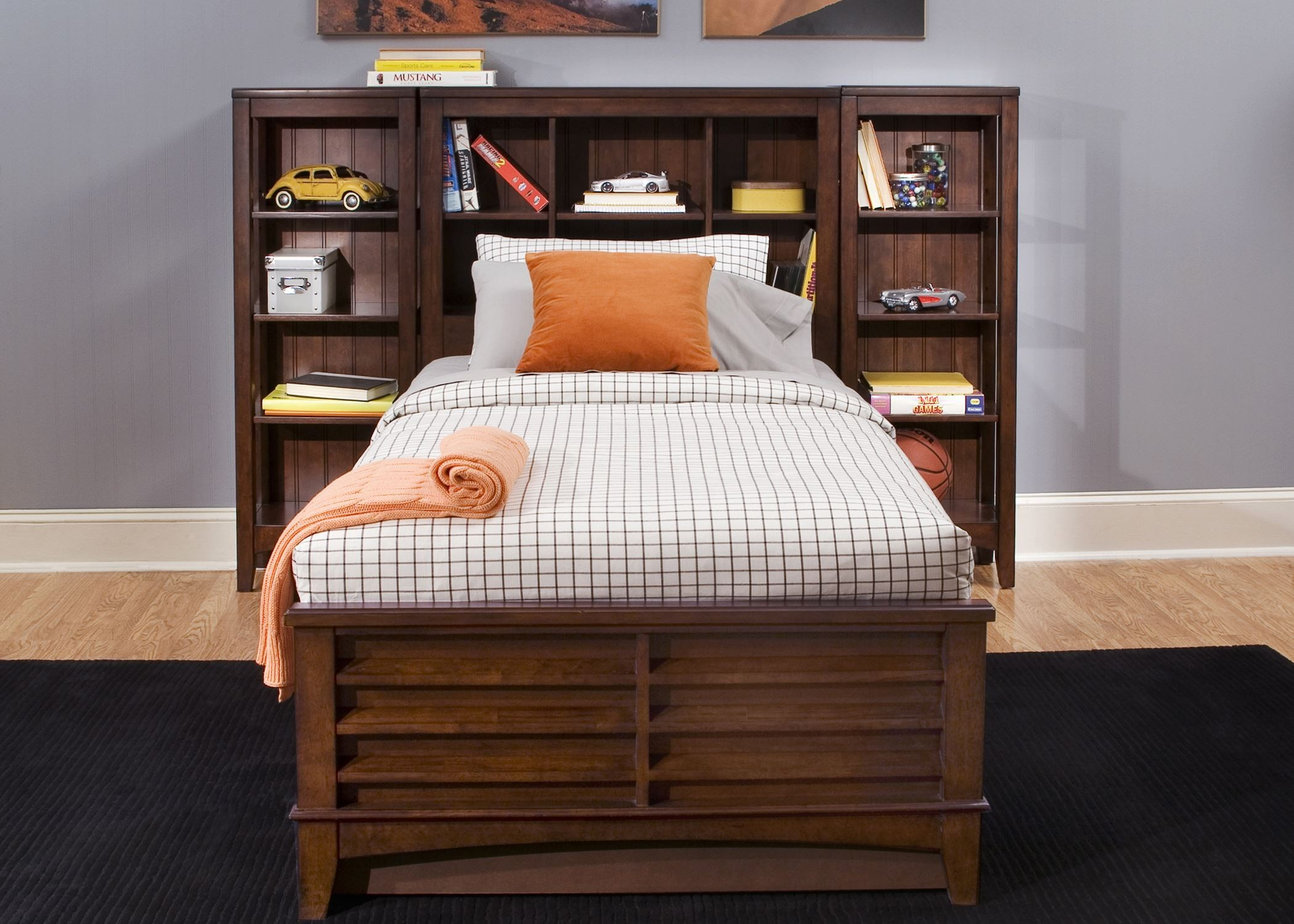 Square Bedroom Furniture ~ Chelsea square youth bookcase bedroom set from liberty