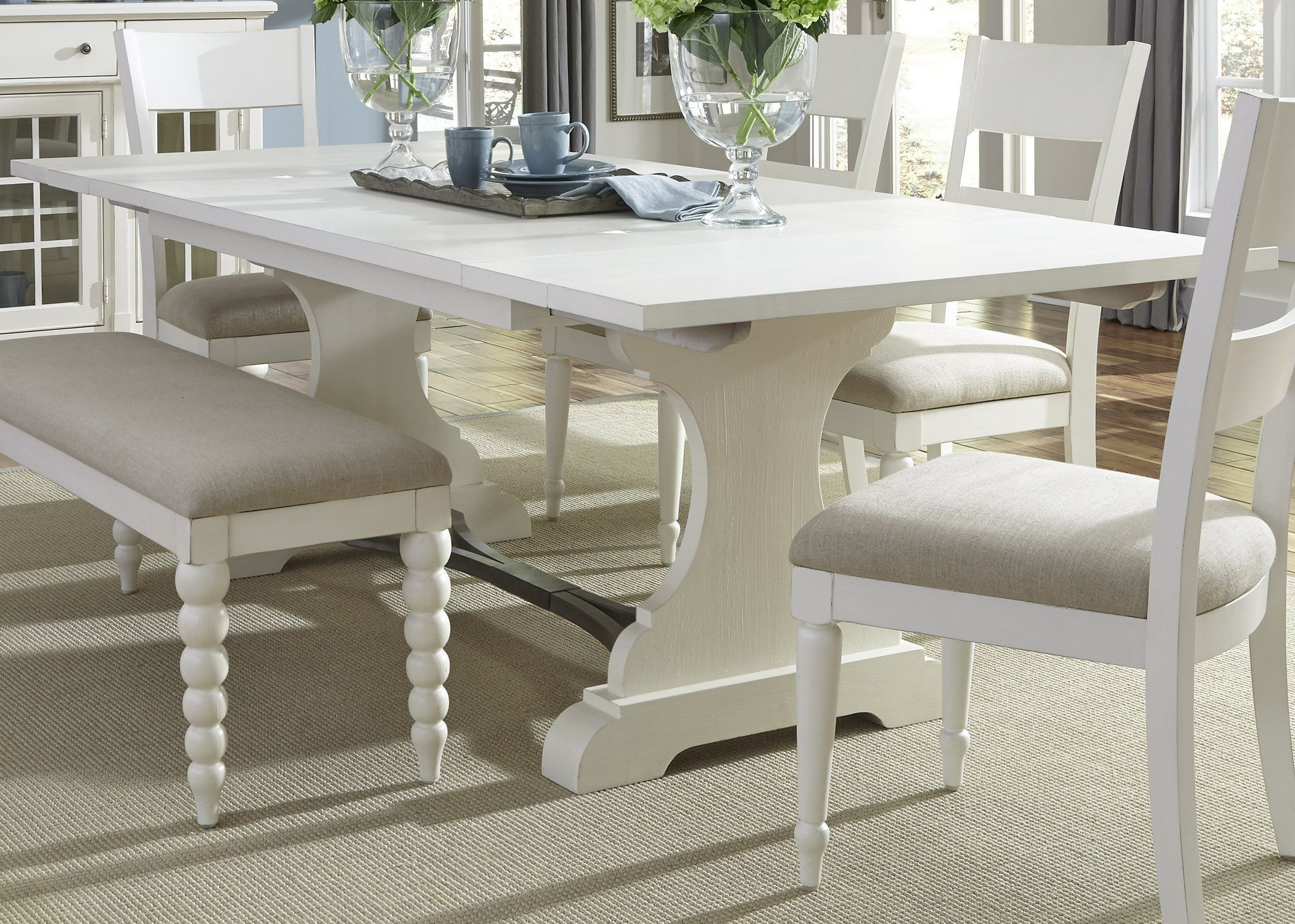 harbor view ii extendable trestle dining table from liberty 631 t4294 coleman furniture. Black Bedroom Furniture Sets. Home Design Ideas