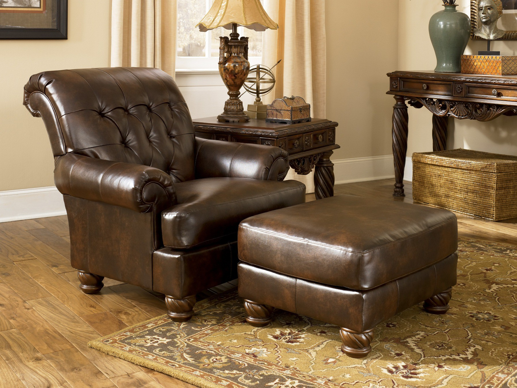 Fresco Durablend Antique Living Room Set From Ashley 63100