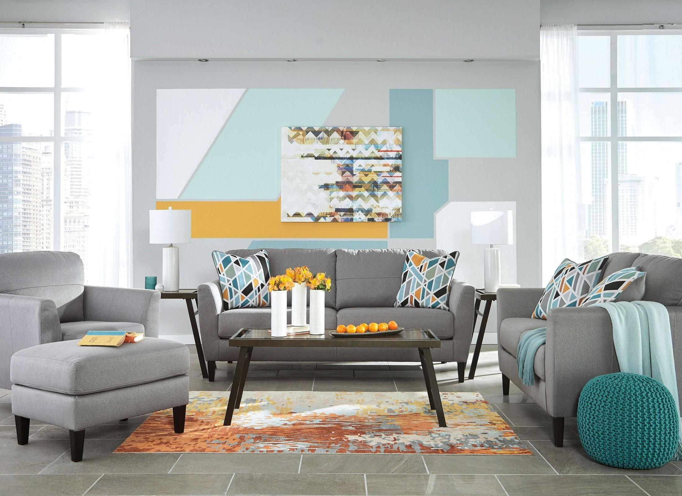 Gray Living Room Set : Pelsor Gray Living Room Set from Ashley  Coleman Furniture