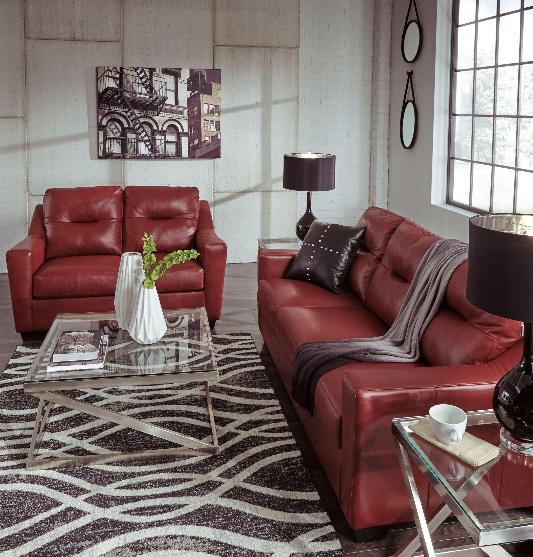 Kensbridge Crimson Living Room Set