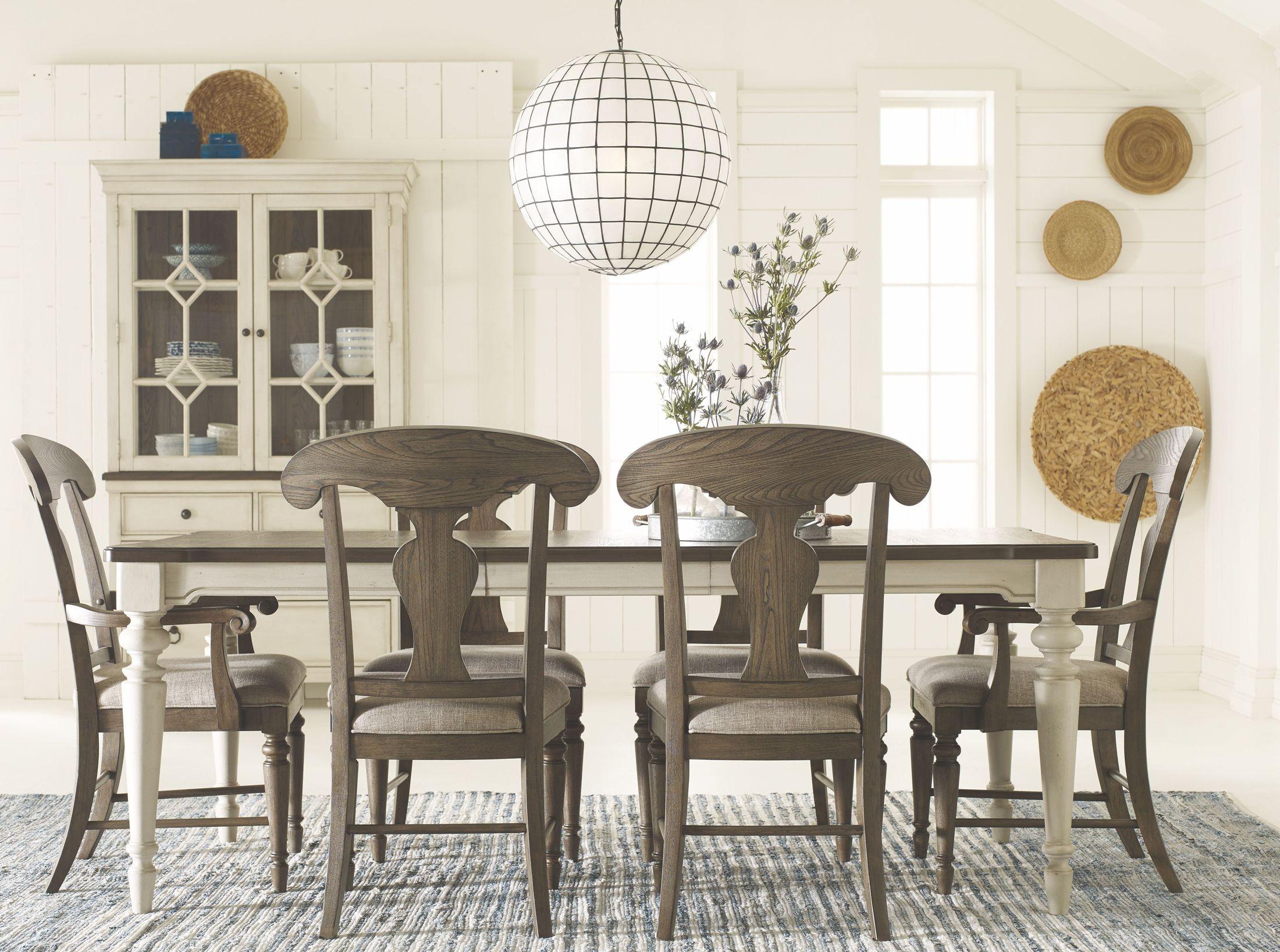 Brookhaven Vintage Linen Extendable Leg Dining Table
