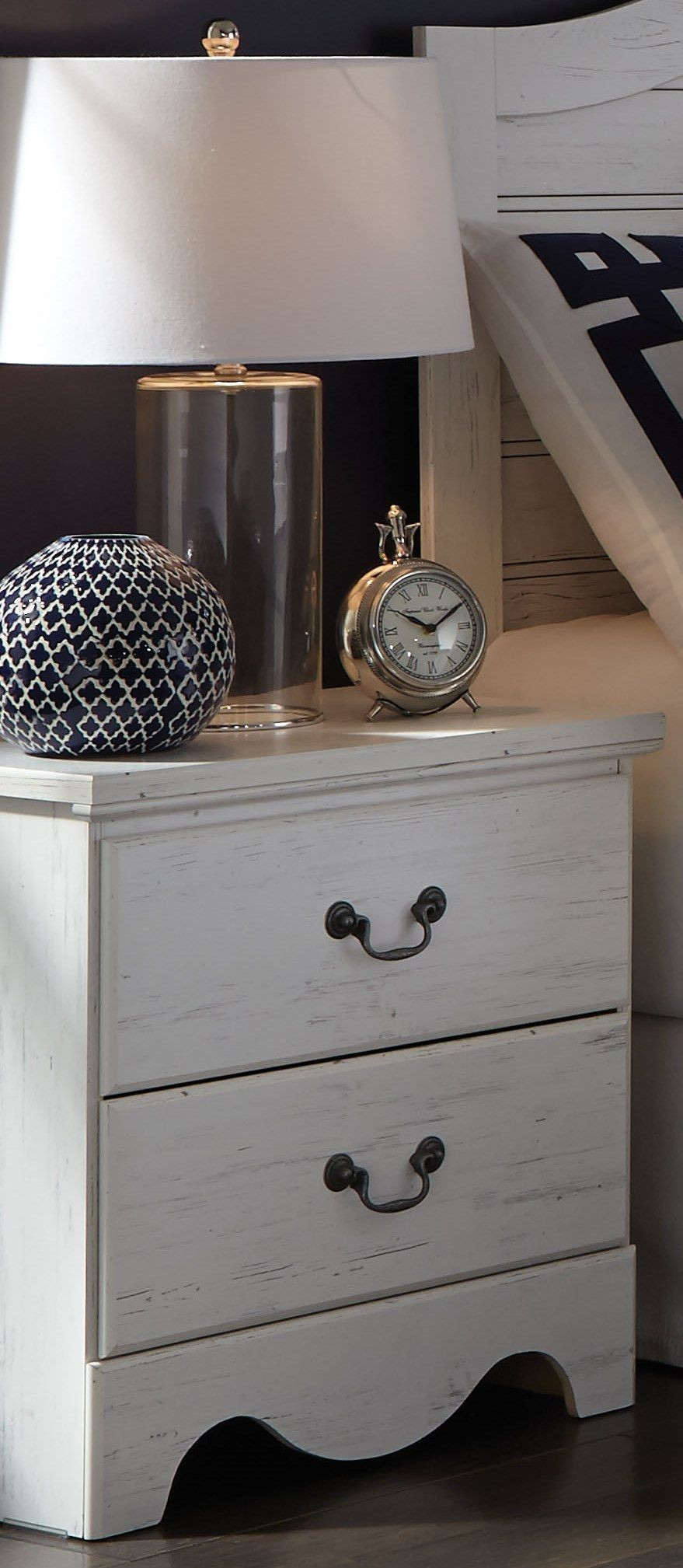 Taylor Rustic White Nightstand From Standard Furniture