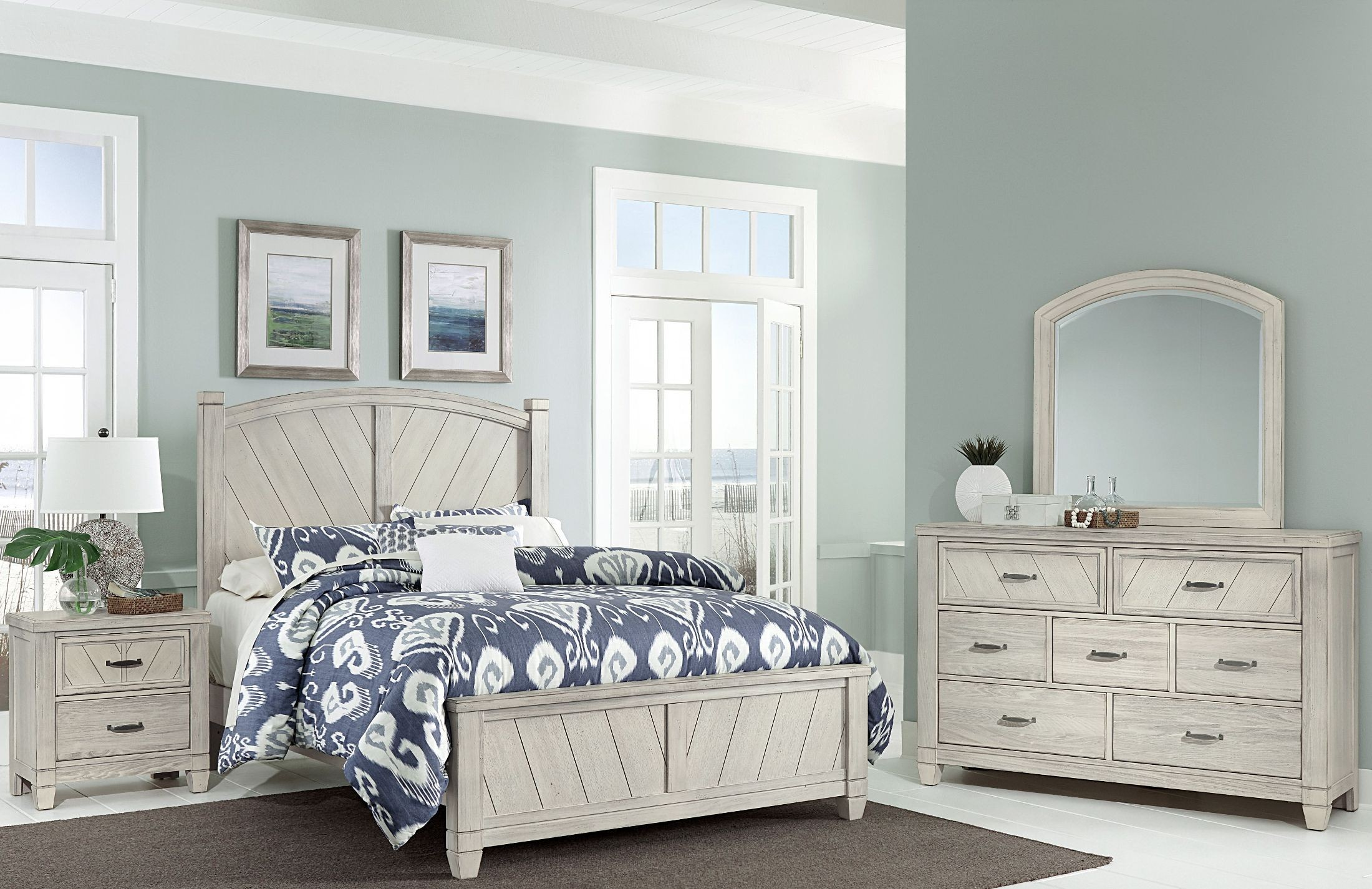 Rustic Cottage Rustic White Panel Bedroom Set From Virginia House Coleman Furniture