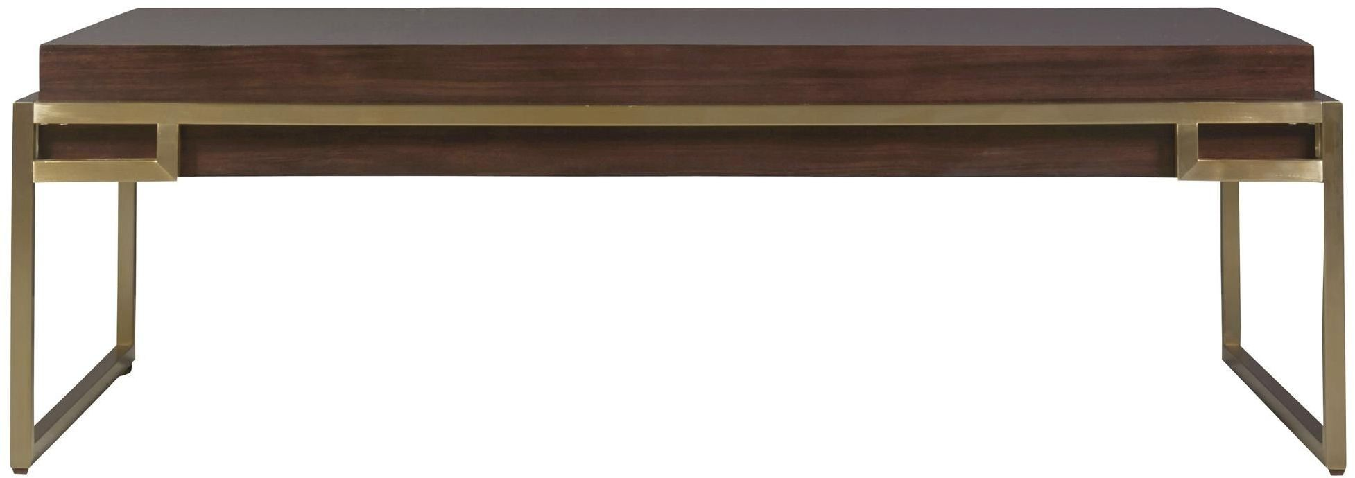 Hayworth Brown And Gold Cocktail Table From Universal Coleman Furniture