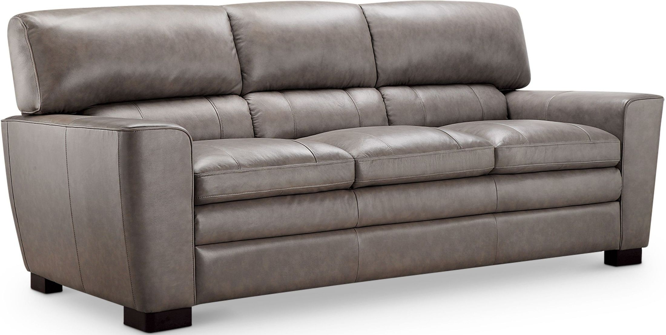 Cambria Wilson Gray Leather Sofa from Luxe Leather