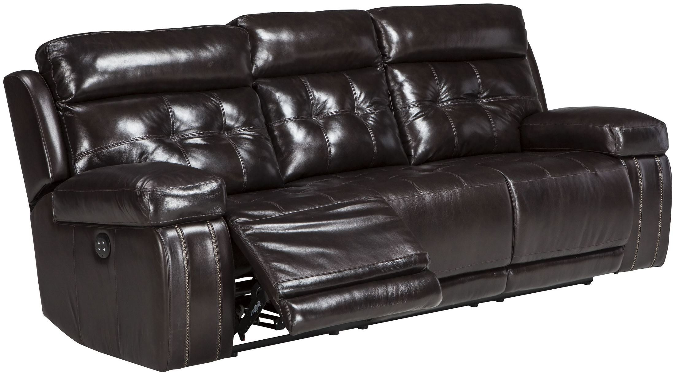 Graford Walnut Power Reclining Sofa With Adjustable