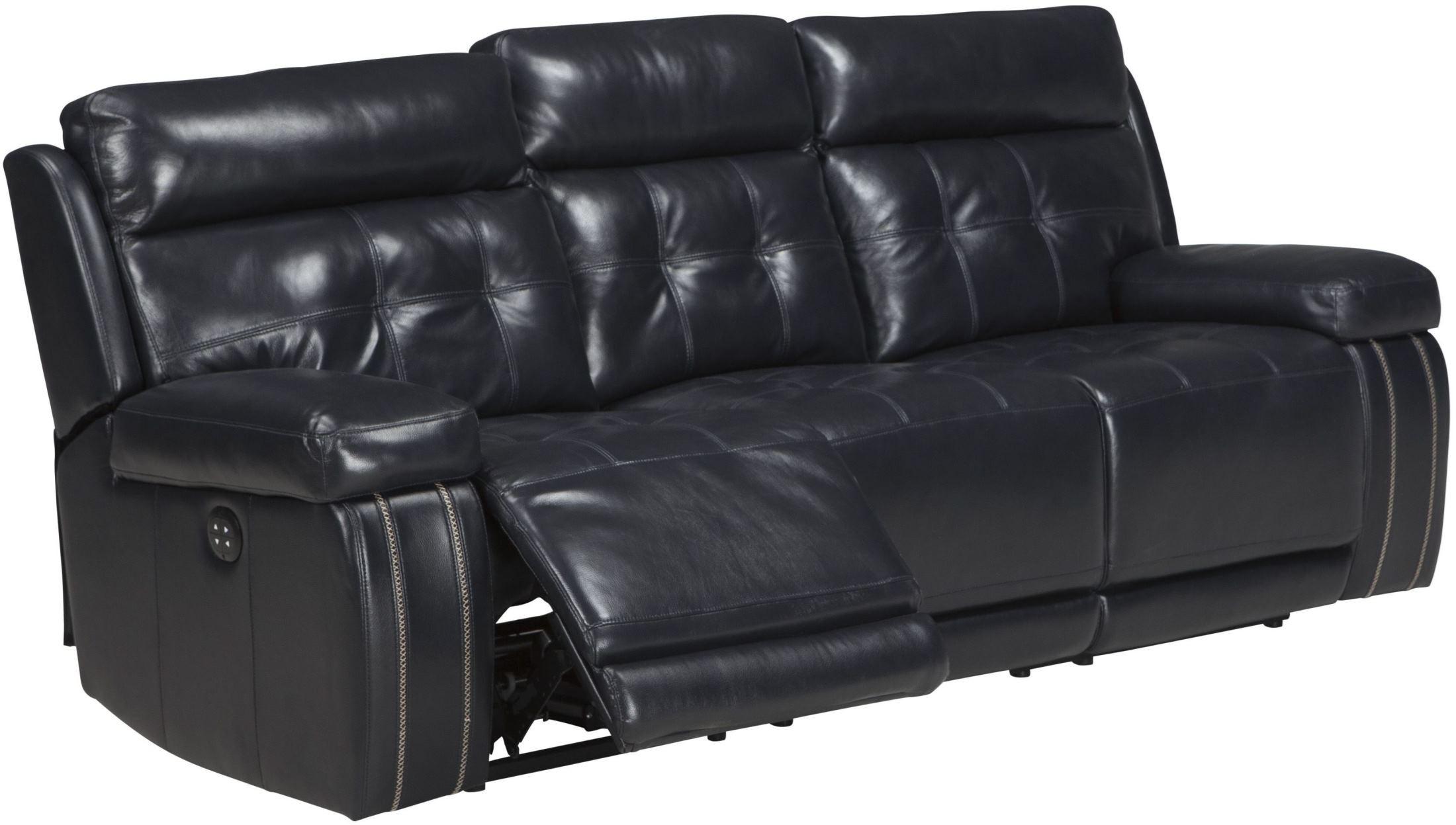 Graford Navy Power Reclining Sofa With Adjustable Headrest