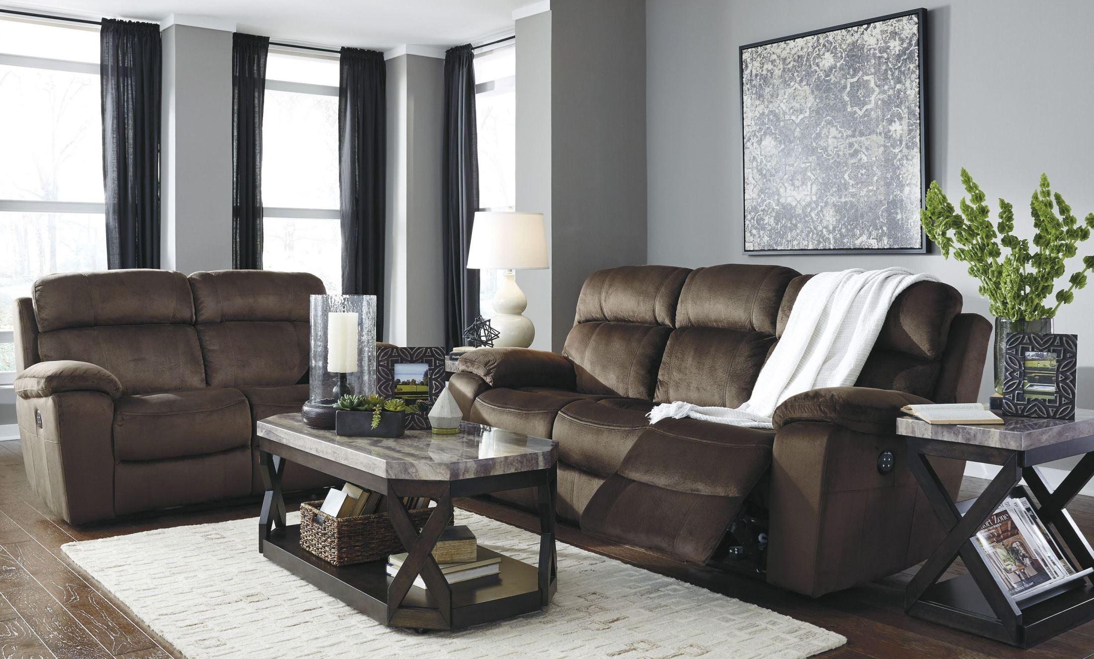 Uhland Chocolate Power Reclining Living Room Set 6480315