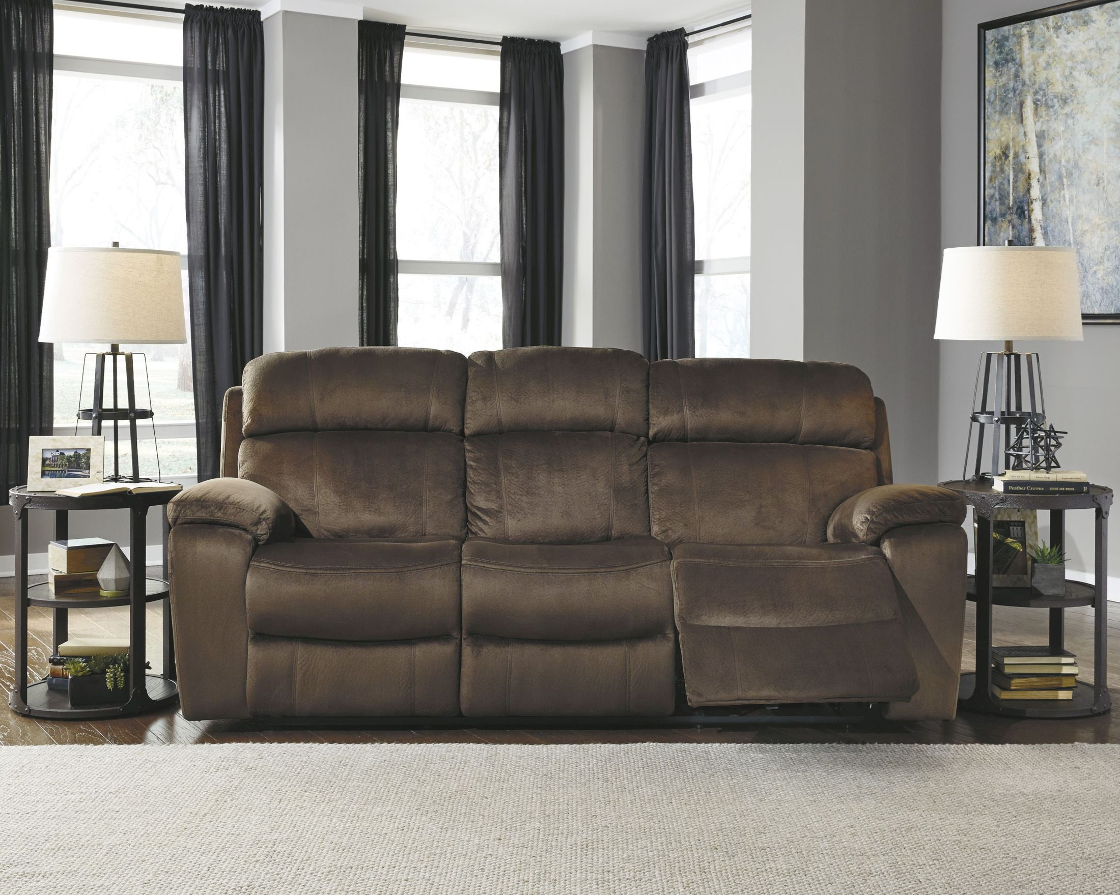 Uhland Chocolate Power Reclining Sofa 6480315 Ashley