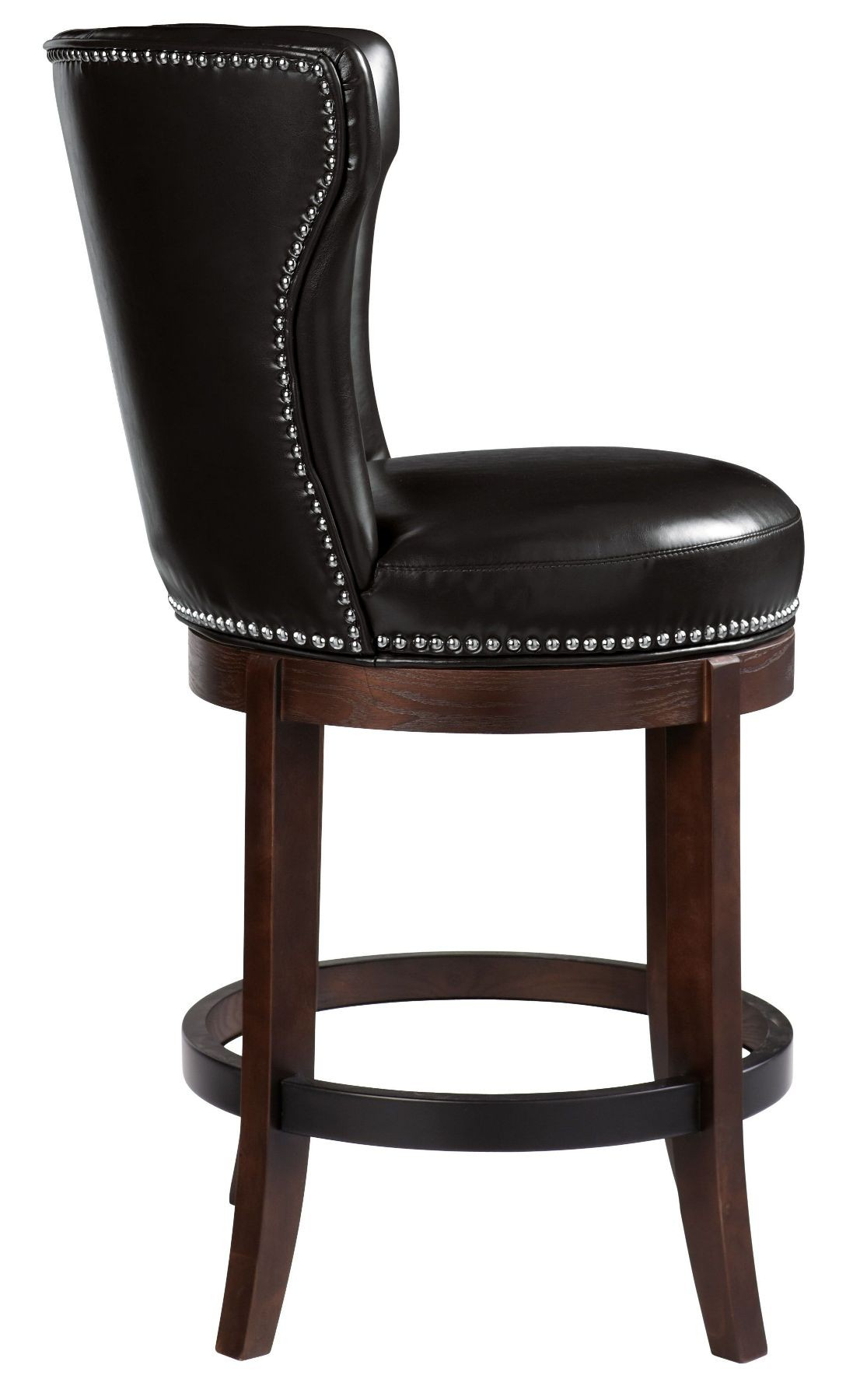 Tavern Black Swivel Barstool From Sunpan 64922 Coleman