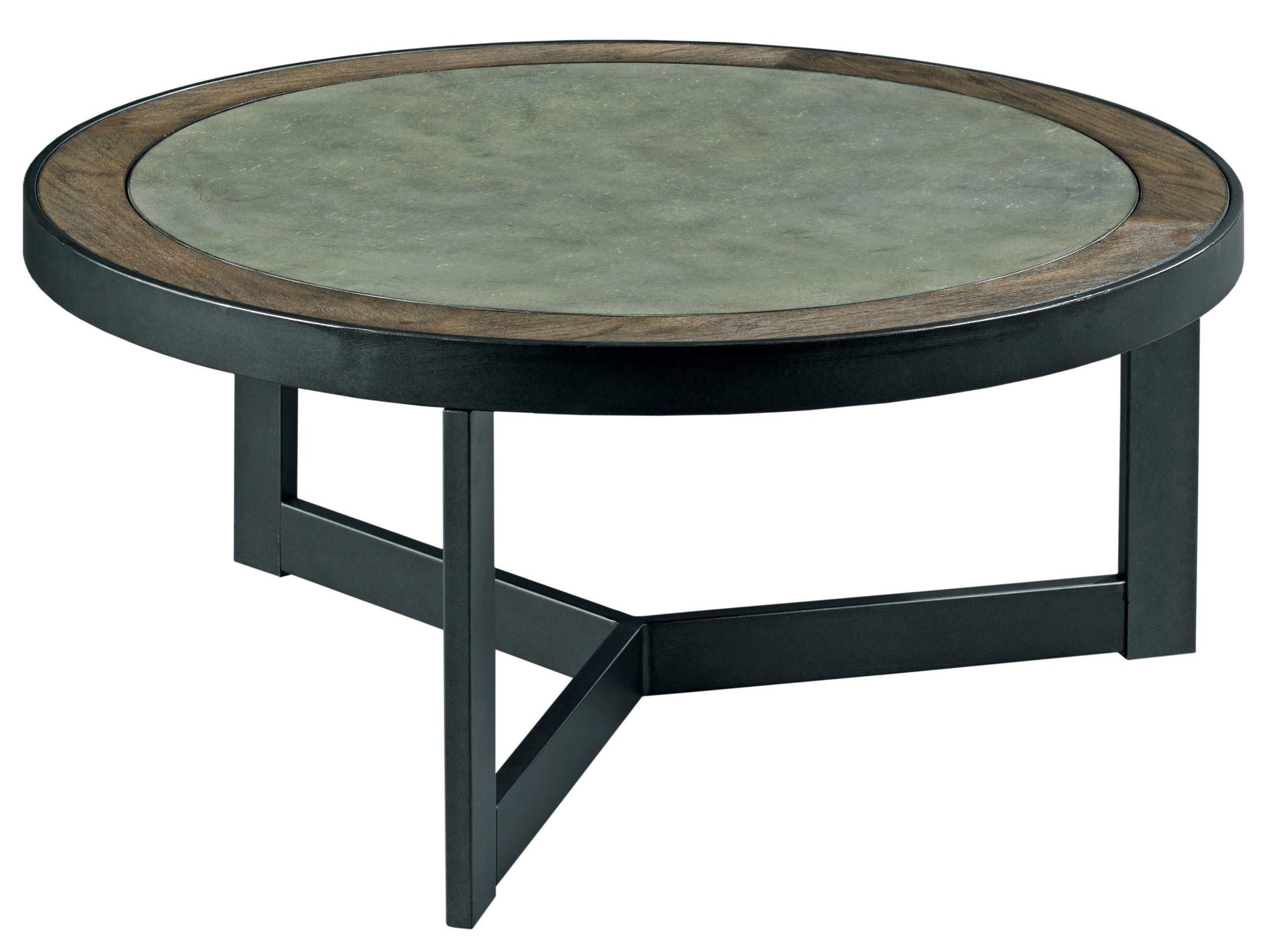 Graystone Dark Oak Round Occasional Table Set from Hammary