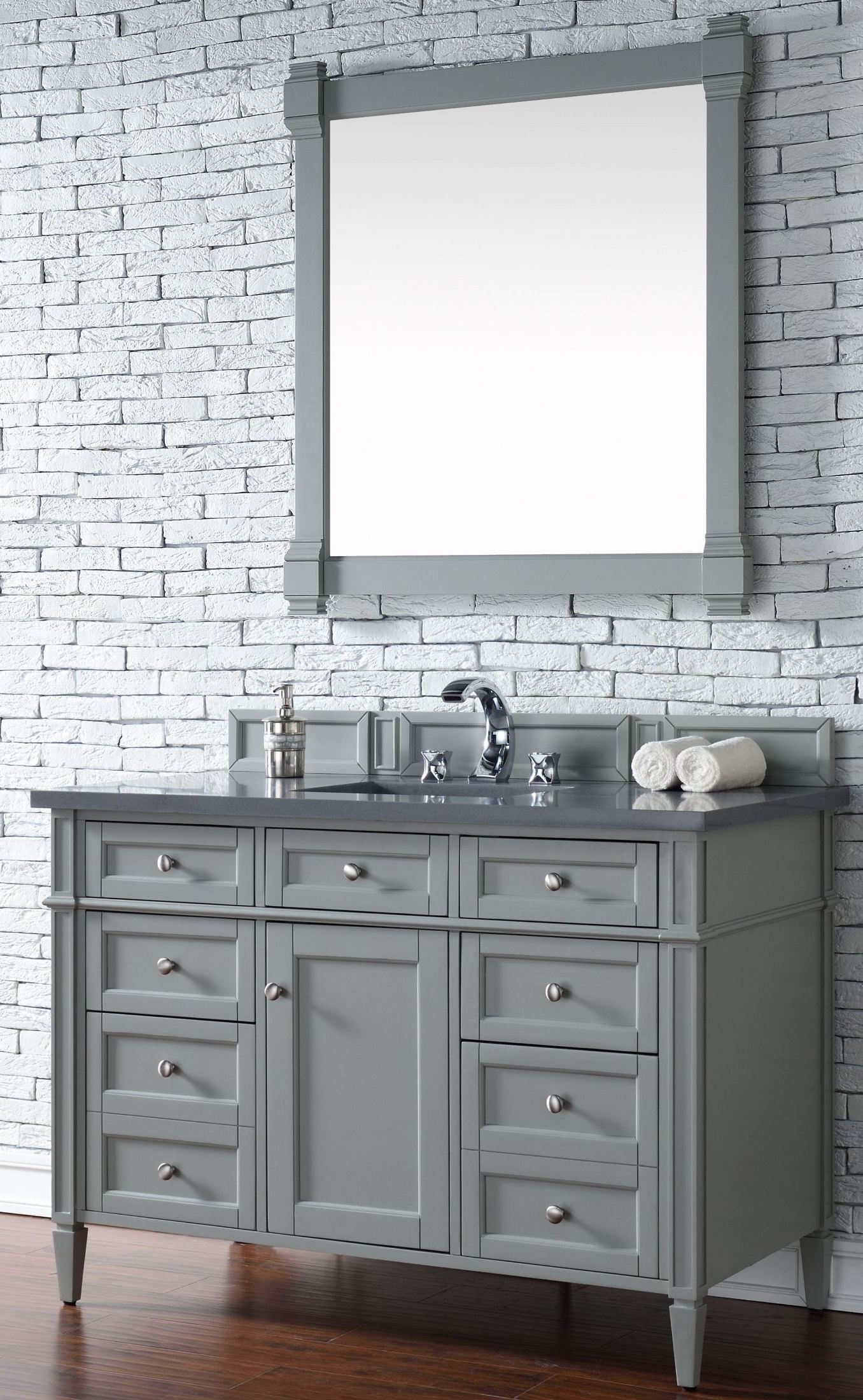 Brittany 48 Quot Urban Gray Single Vanity With 3cm Shadow Gray
