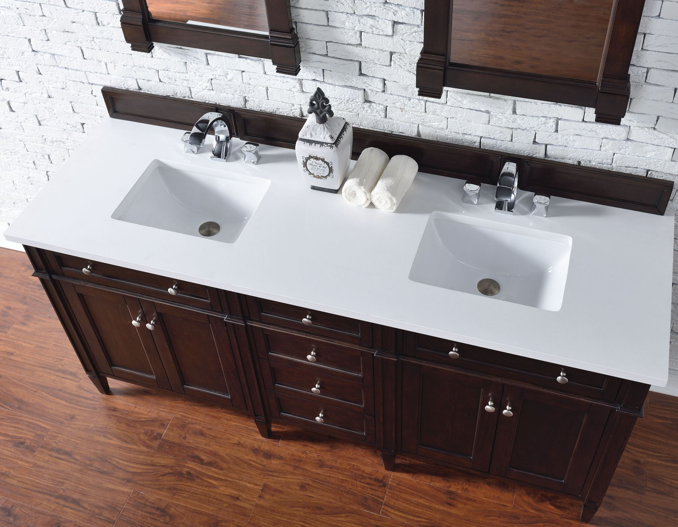 Brittany 72 Quot Burnished Mahogany Double Vanity With 3cm