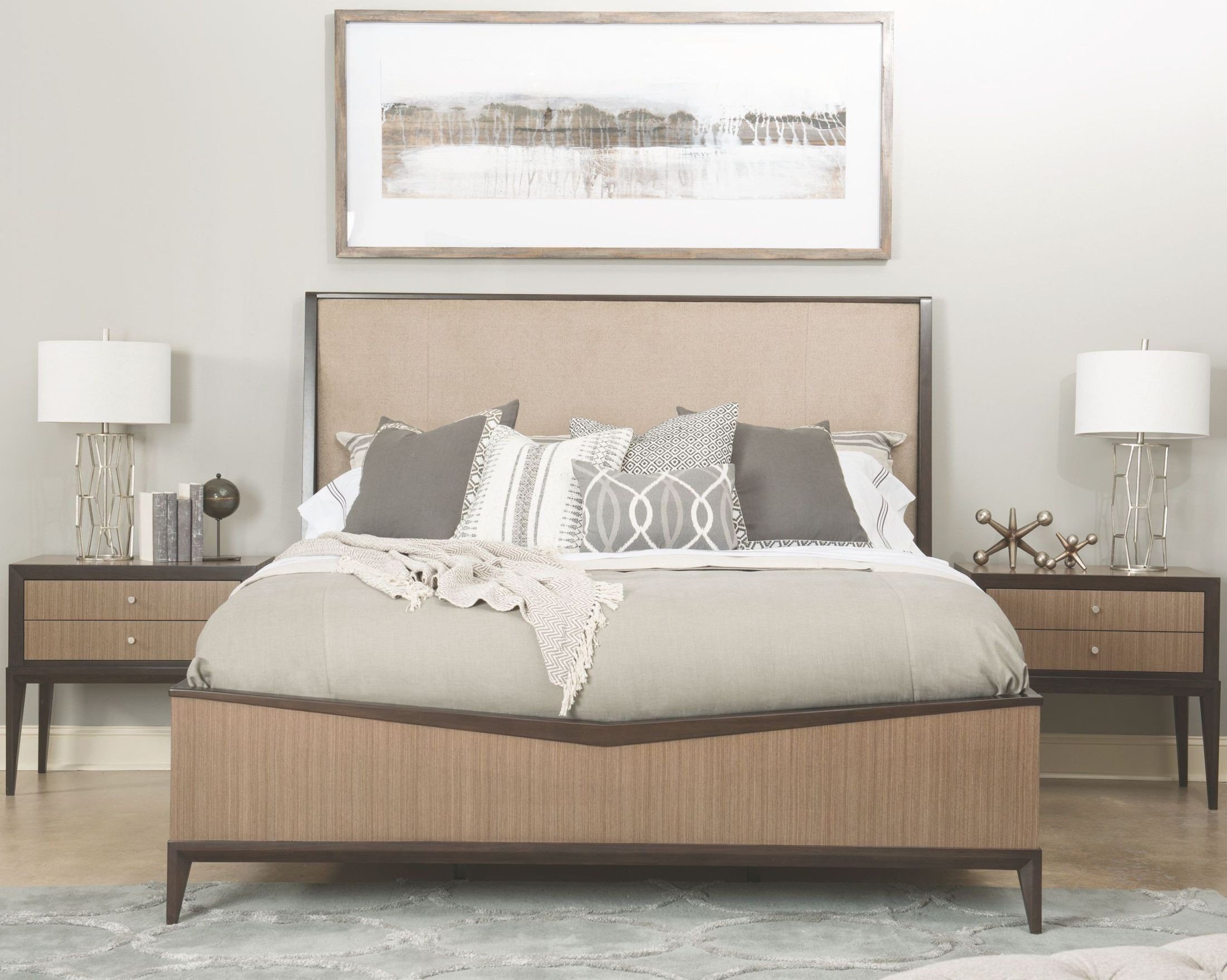 Urban Rhythm Milk And Dark Chocolate Upholstered Bedroom Set From Legacy Classic Coleman Furniture