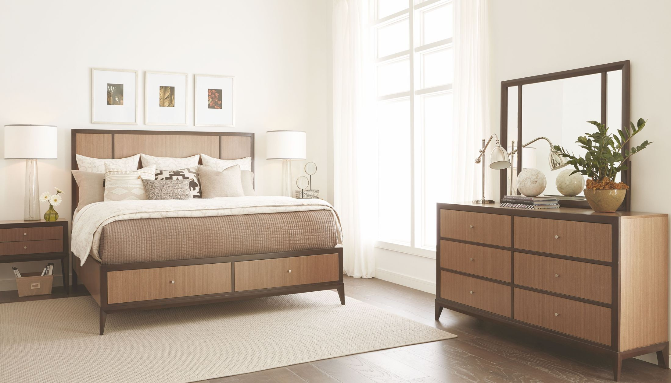 Urban rhythm milk and dark chocolate panel storage bedroom set from legacy classic coleman for Bedroom furniture washington dc