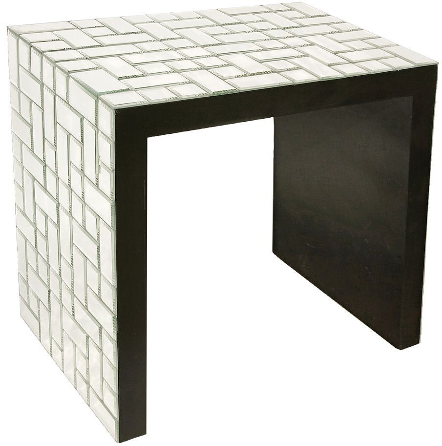Mirrored Accent Table: Mosaic Mirrored Accent Table From Howard Elliott