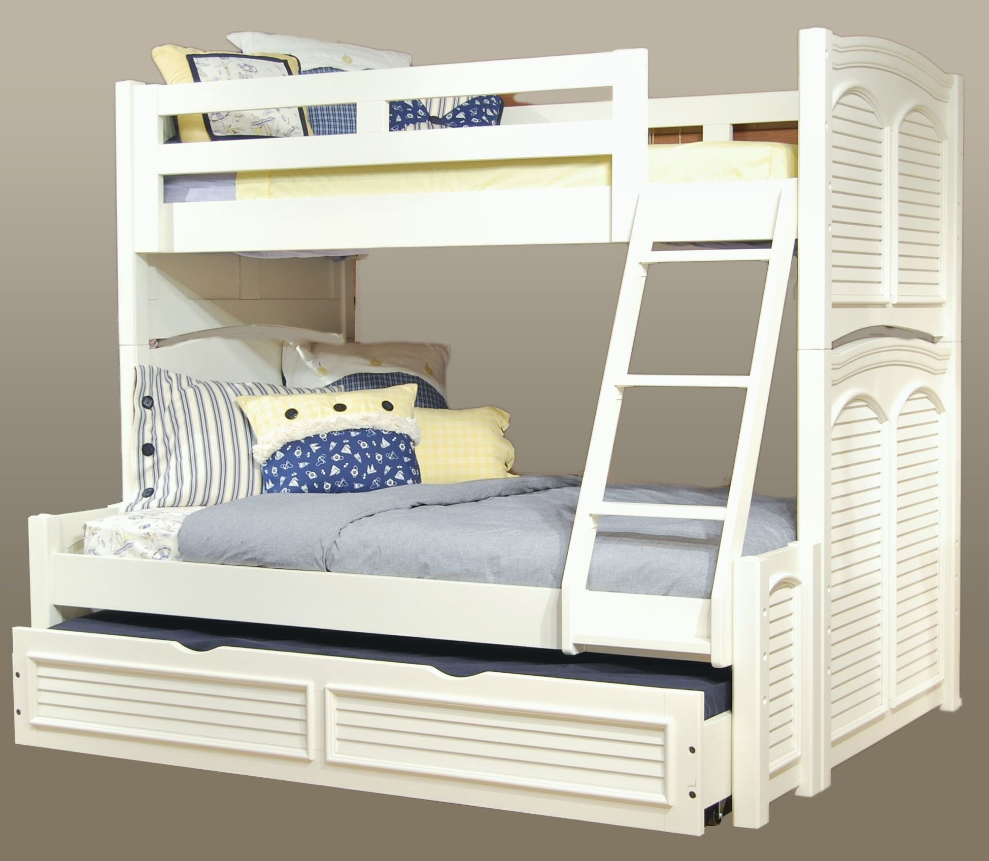 Cottage Traditions White Bunk Bedroom Set from American Woodcrafters