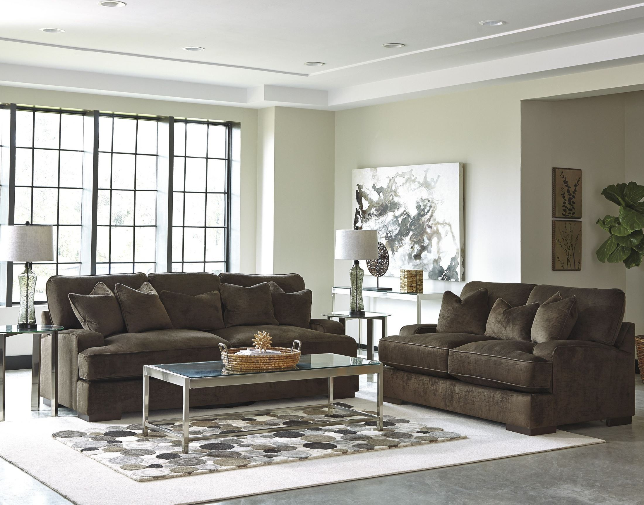 Bisenti Chocolate Living Room Set From Ashley 6530638
