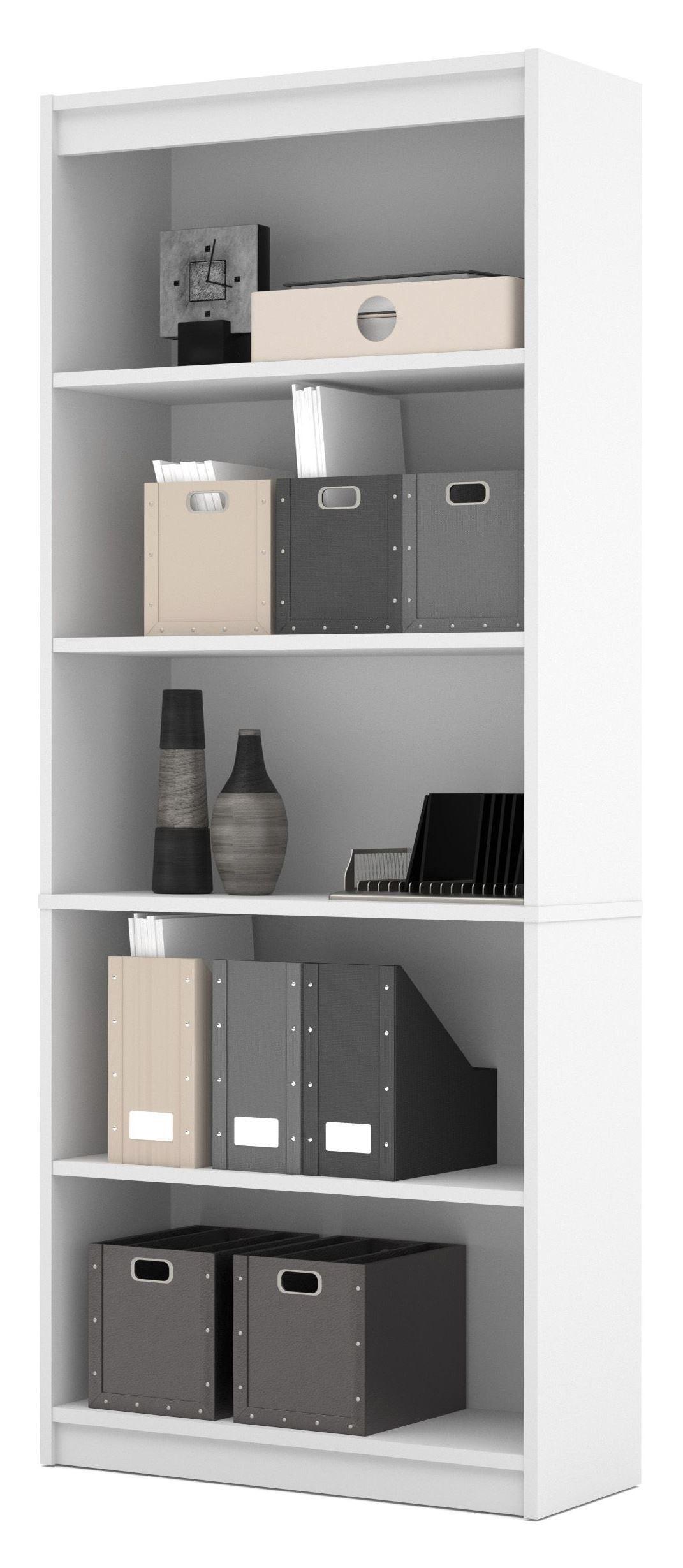 White Standard Bookcase From Bestar (65715-3117)