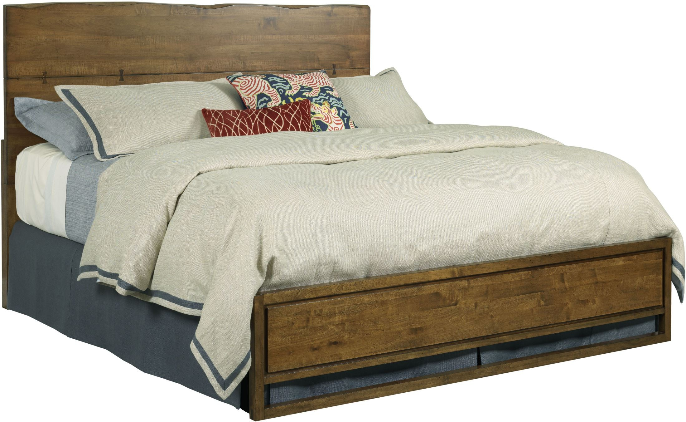 Traverse brown craftsman cal king platform bed from for Craftsman bed