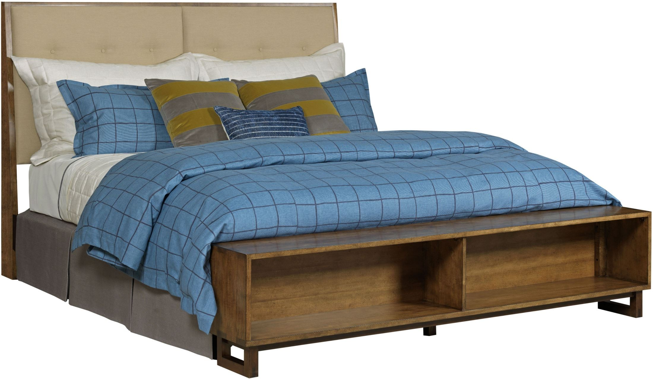 Traverse brown patternmaker cal king upholstered storage - California king storage bedroom sets ...