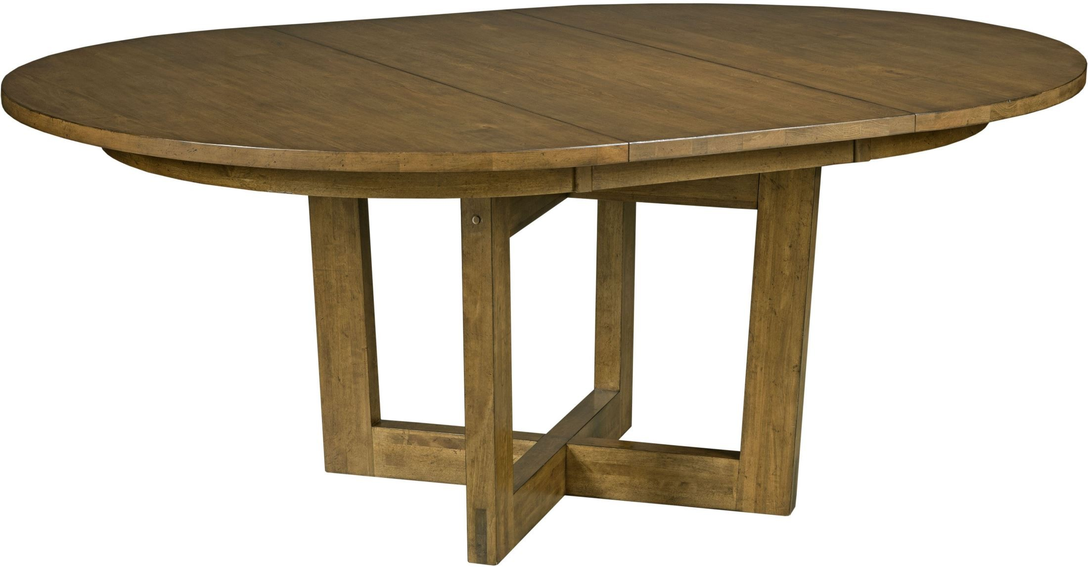 Traverse brown 54 drop leaf round dining table from for Round drop leaf dining table