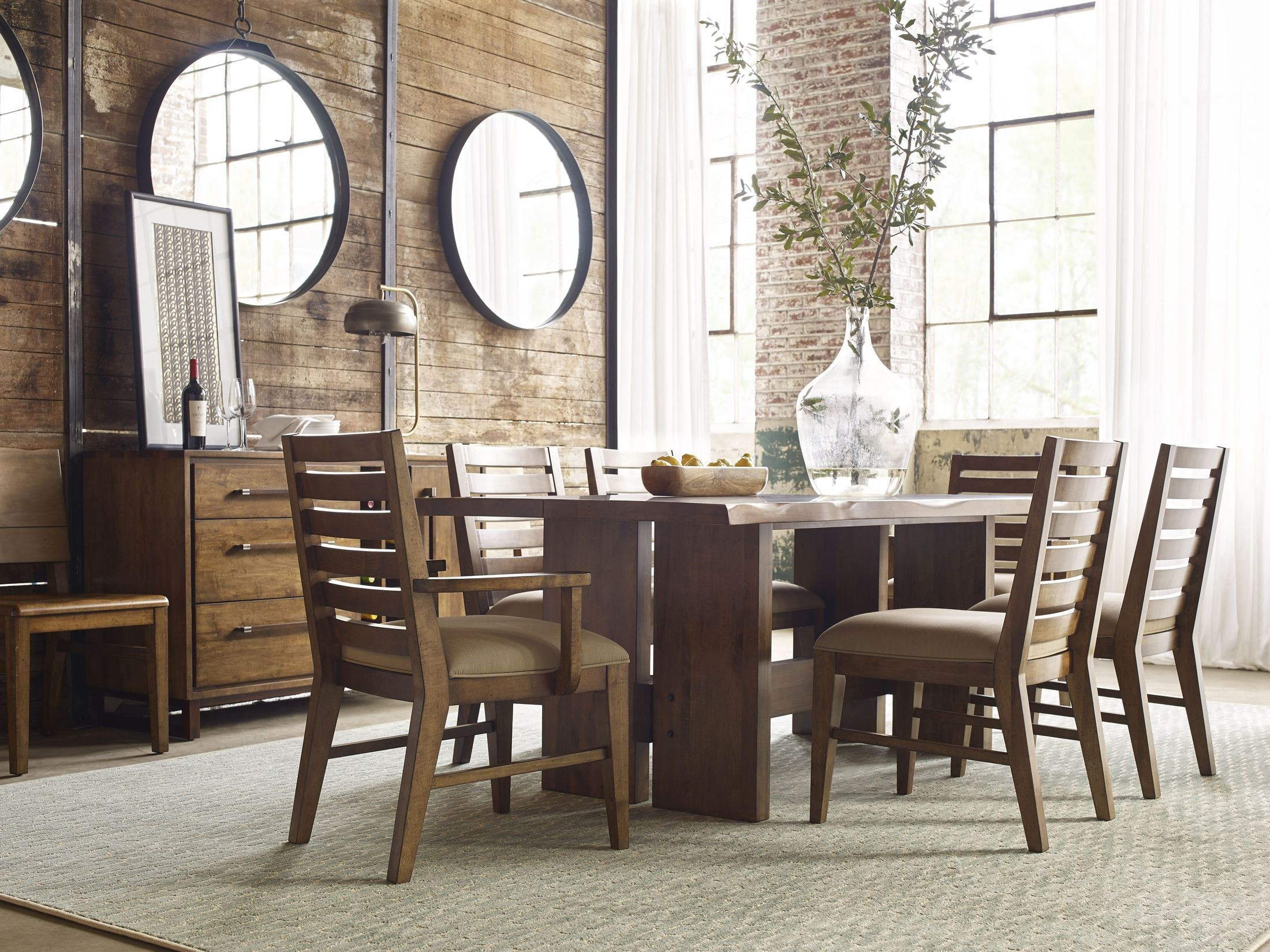 Attirant Traverse Brown Cutler Dining Room Set From Kincaid Furniture | Coleman  Furniture