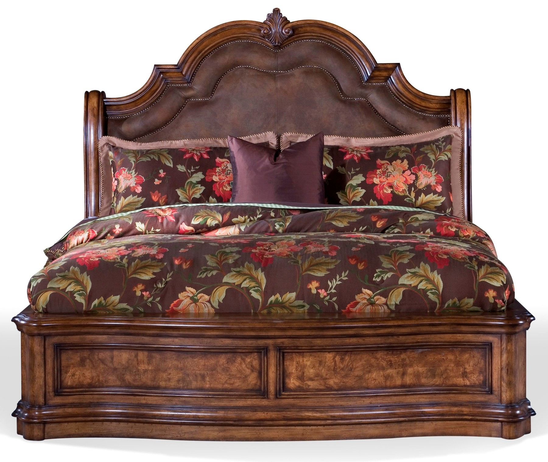 San mateo king sleigh bed from pulaski 662180 662181 - King size sleigh bed bedroom set ...