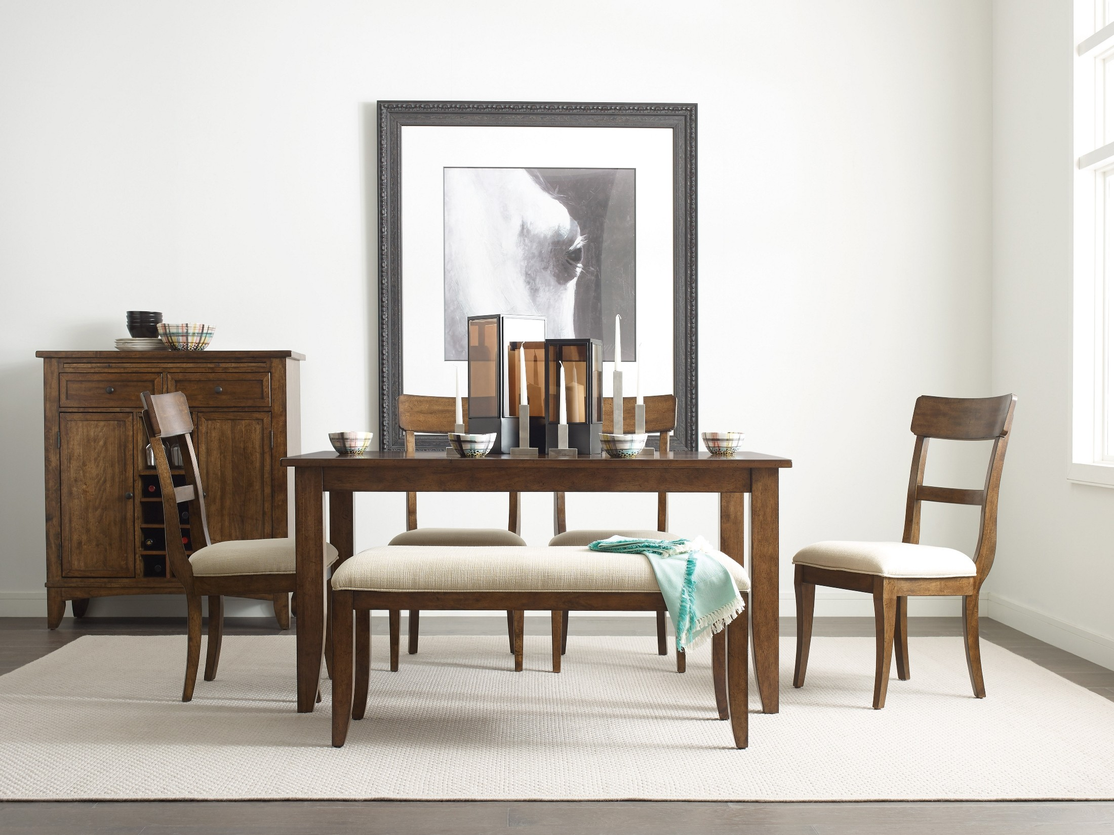 The Nook Maple 60 Quot Dining Room Set From Kincaid Furniture