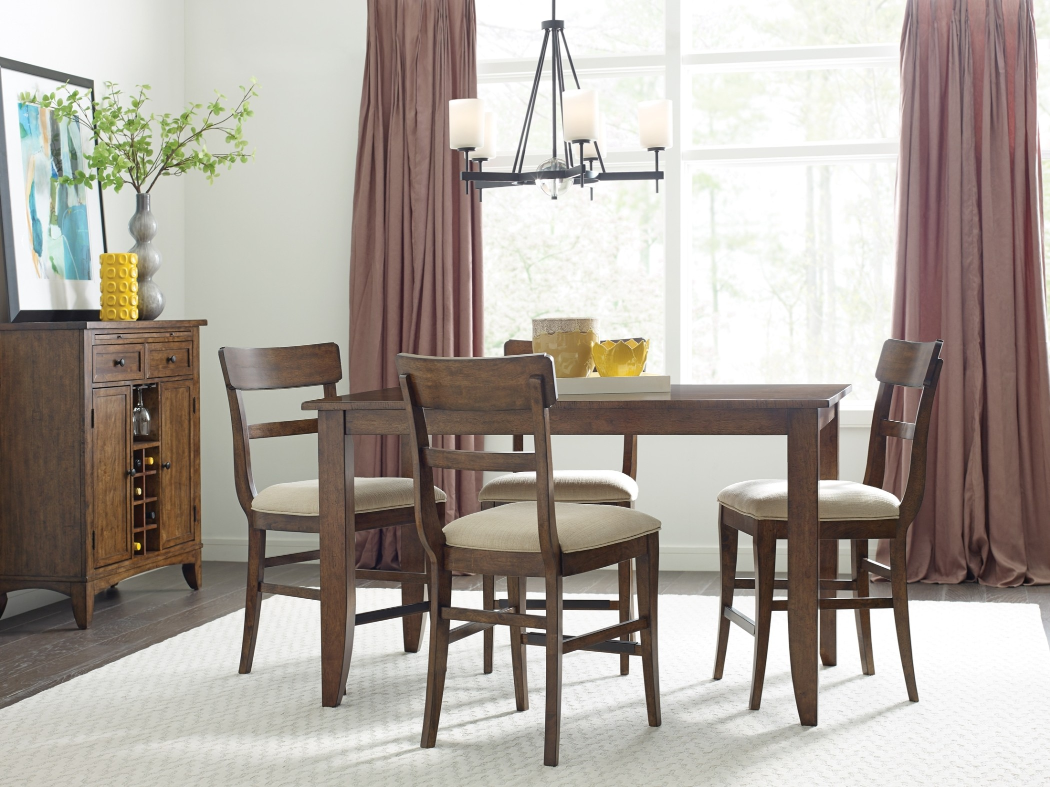 The Nook Maple 60 Counter Height Dining Room Set From Kincaid Furniture