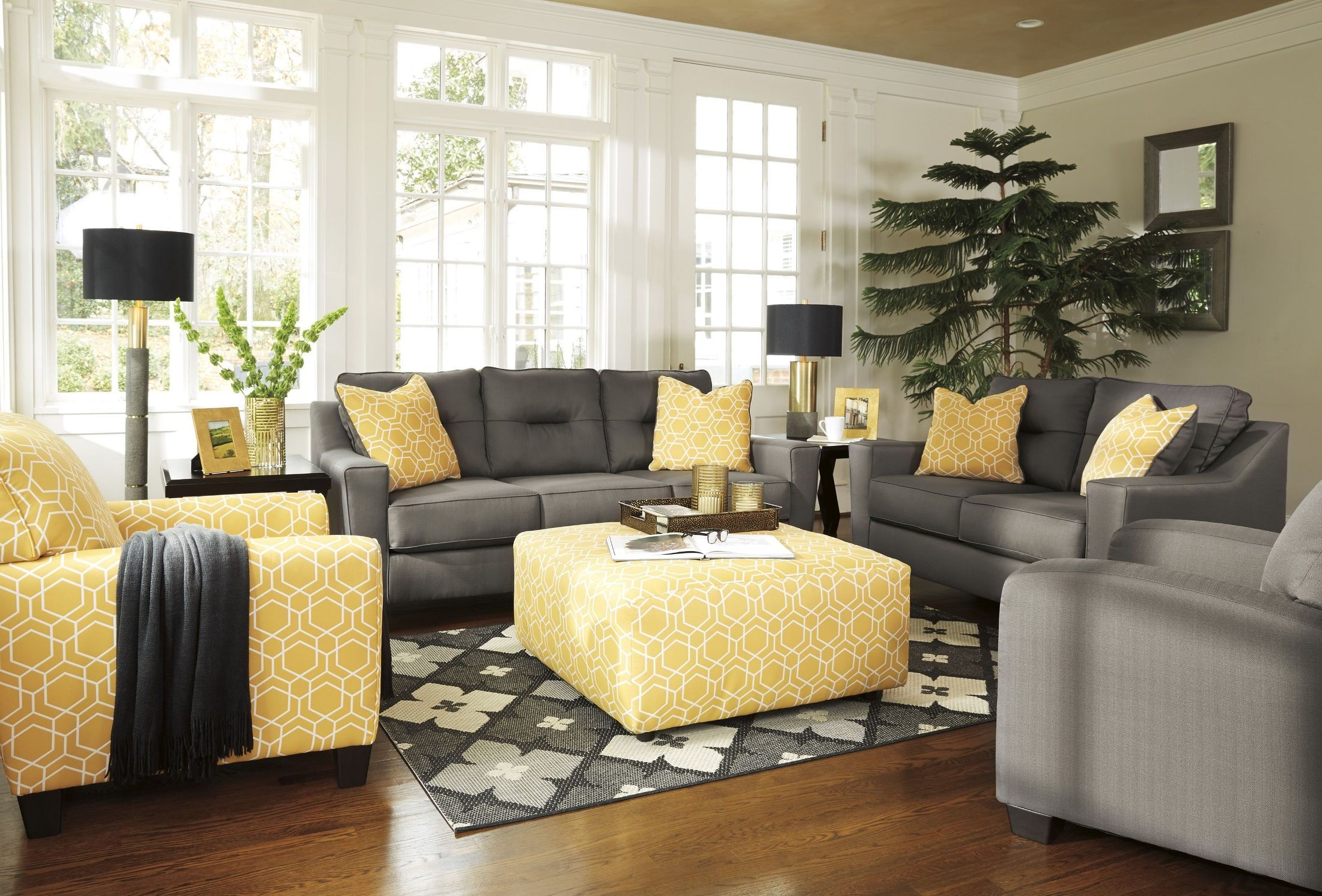 Forsan Nuvella Gray Living Room Set From Ashley