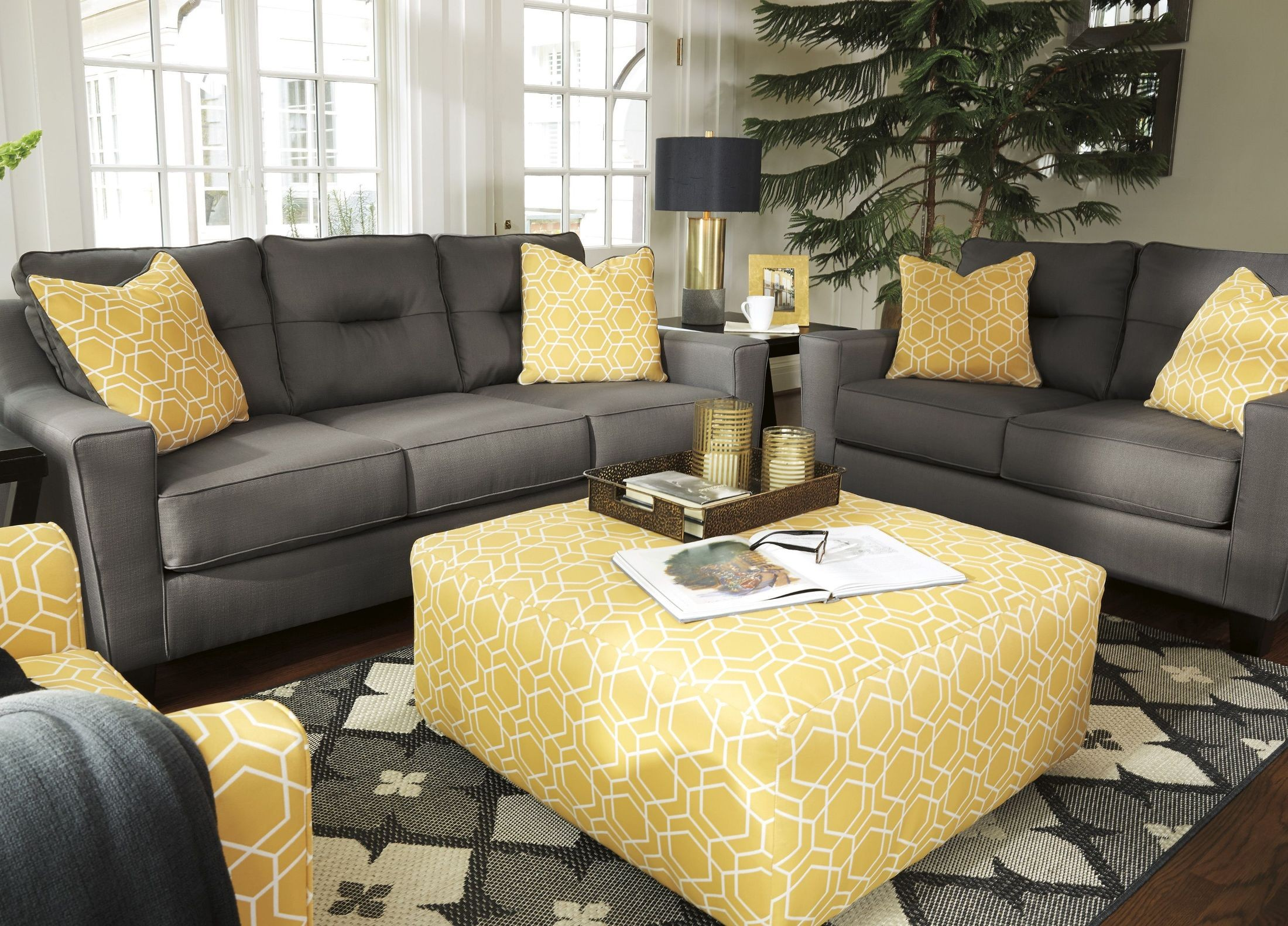 Forsan Nuvella Gray Living Room Set From Ashley Coleman
