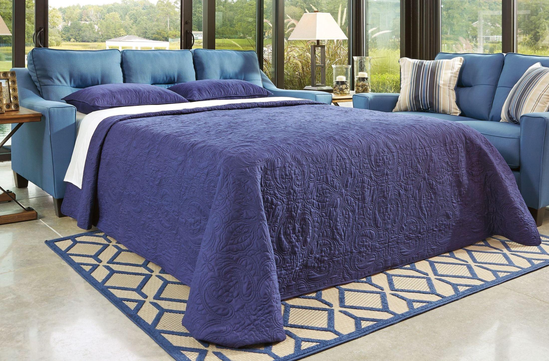 Forsan Nuvella Blue Queen Sofa Sleeper From Ashley